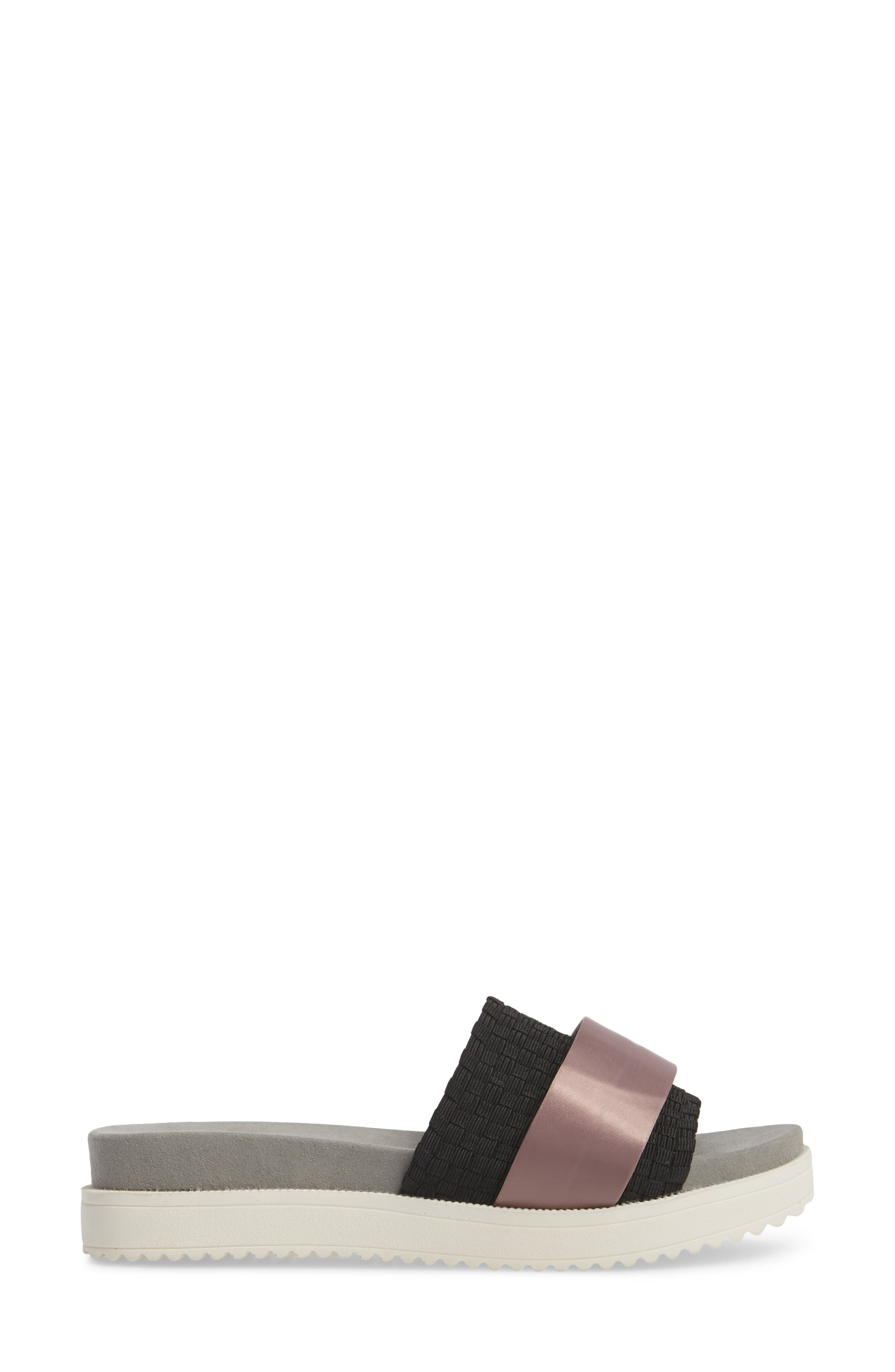 BERNIE MEV.,                             Ibiza Sandal,                             Alternate thumbnail 3, color,                             BLACK FABRIC/ PINK