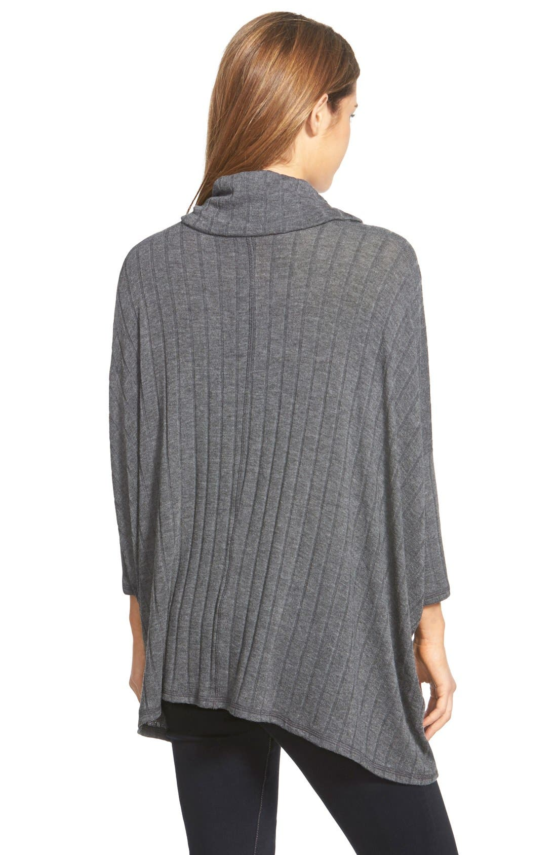 Cowl Neck Swing Sweater,                             Alternate thumbnail 3, color,                             091
