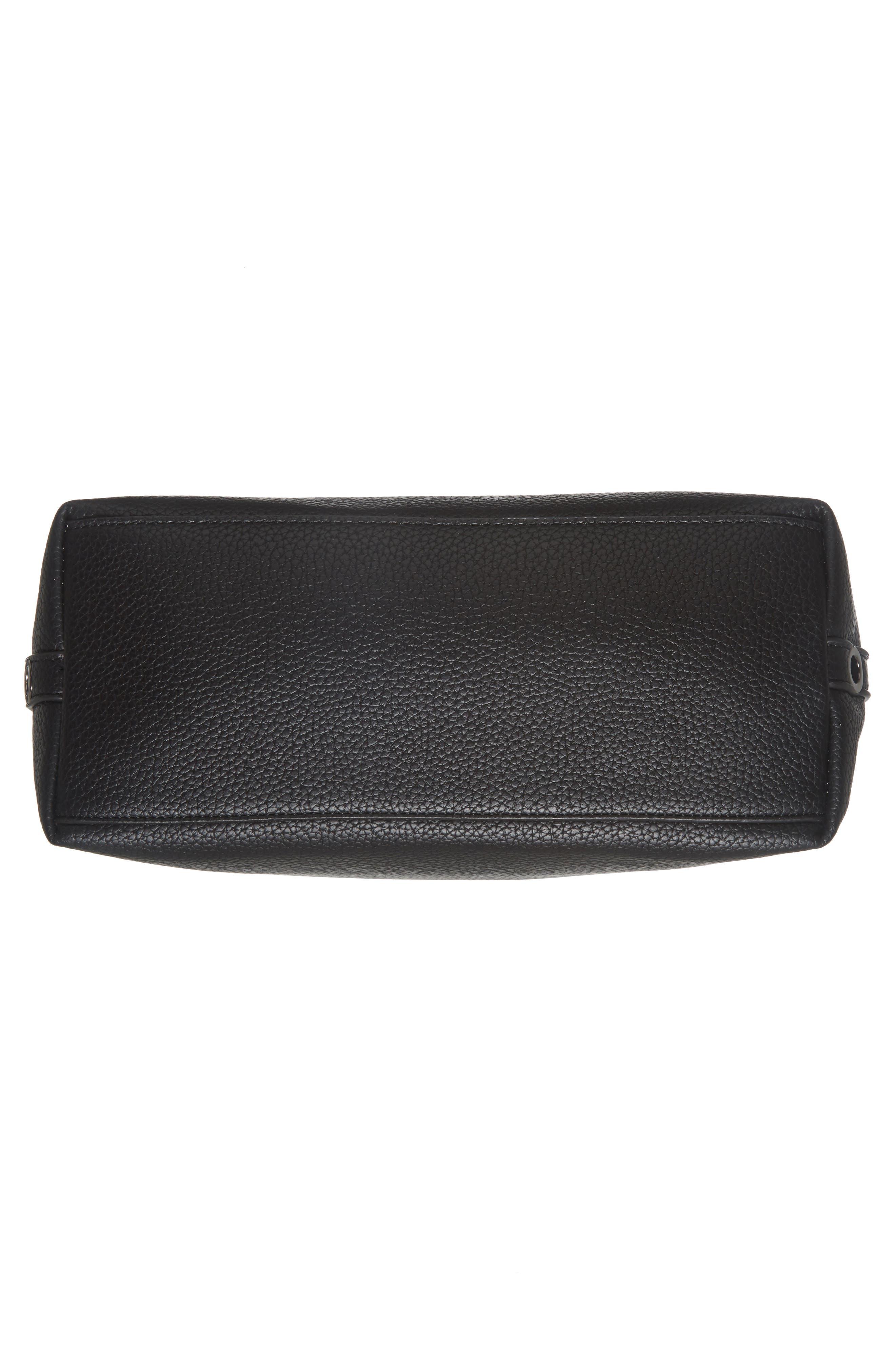 Samara Faux Leather Shoulder Bag,                             Alternate thumbnail 6, color,                             001