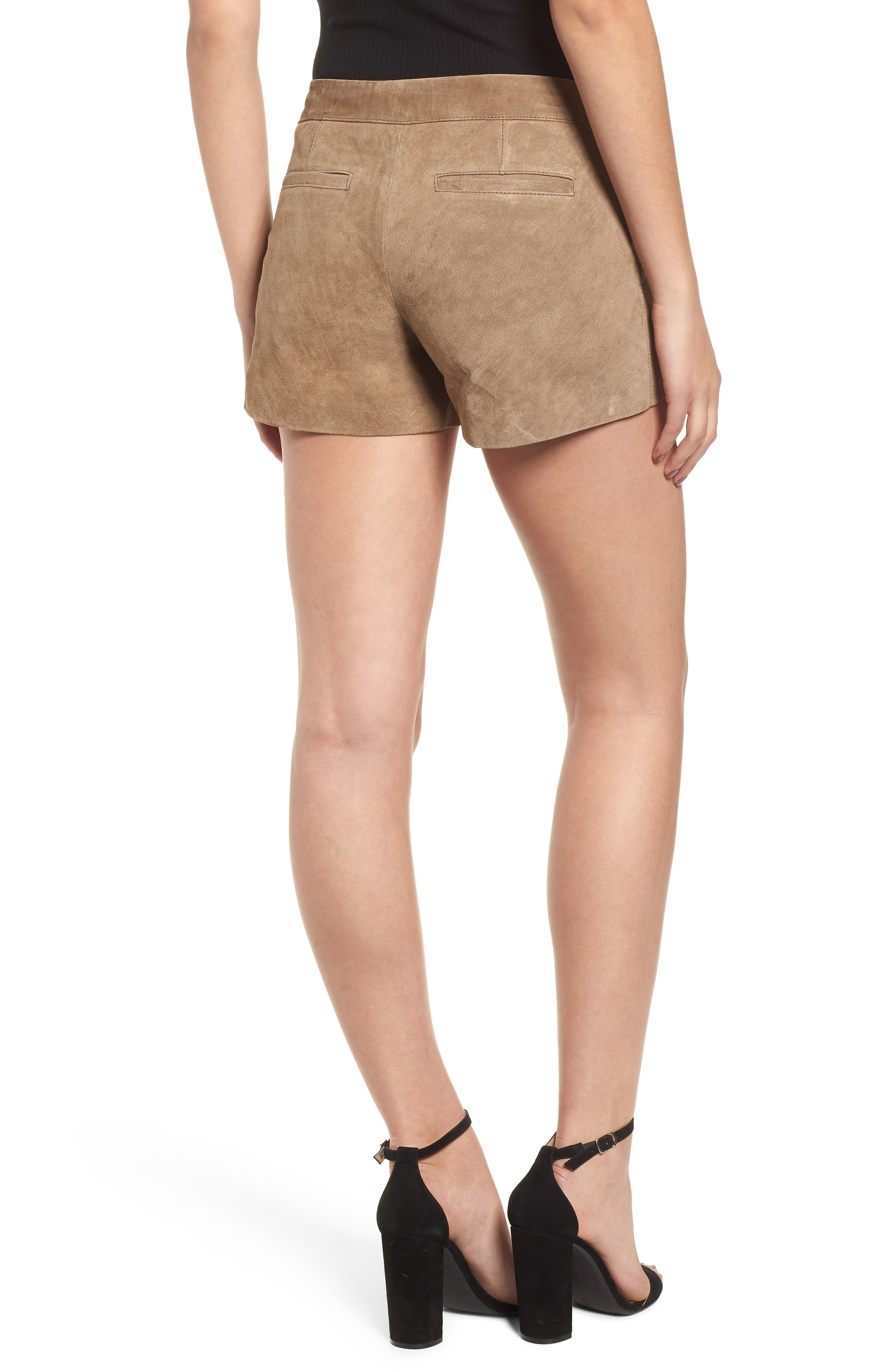 Suede Shorts,                             Alternate thumbnail 2, color,                             MIDNIGHT TOKER