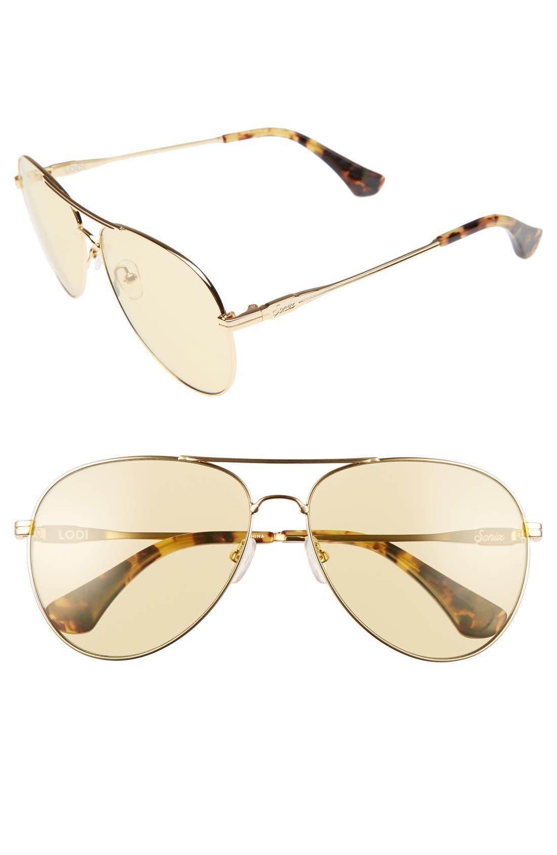 Lodi 62mm Mirrored Aviator Sunglasses,                             Main thumbnail 4, color,