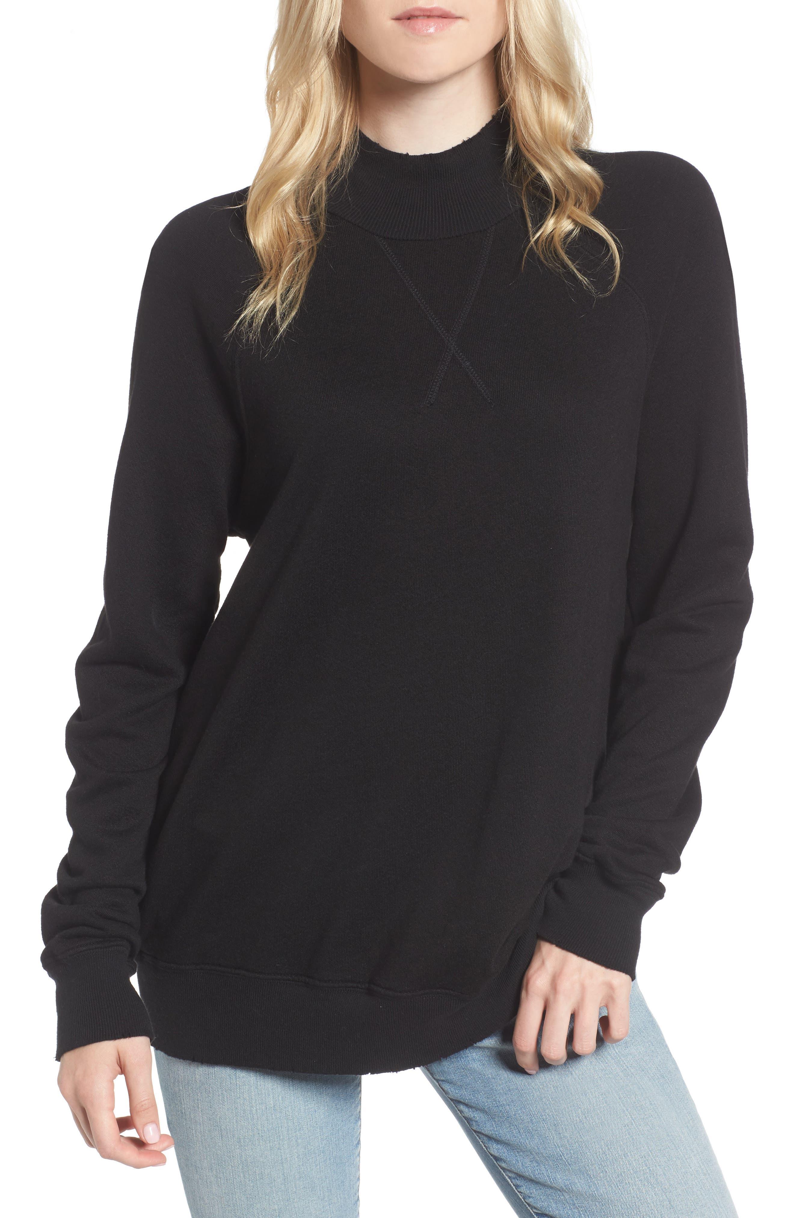Zuma Mock Neck Sweatshirt,                         Main,                         color, 001