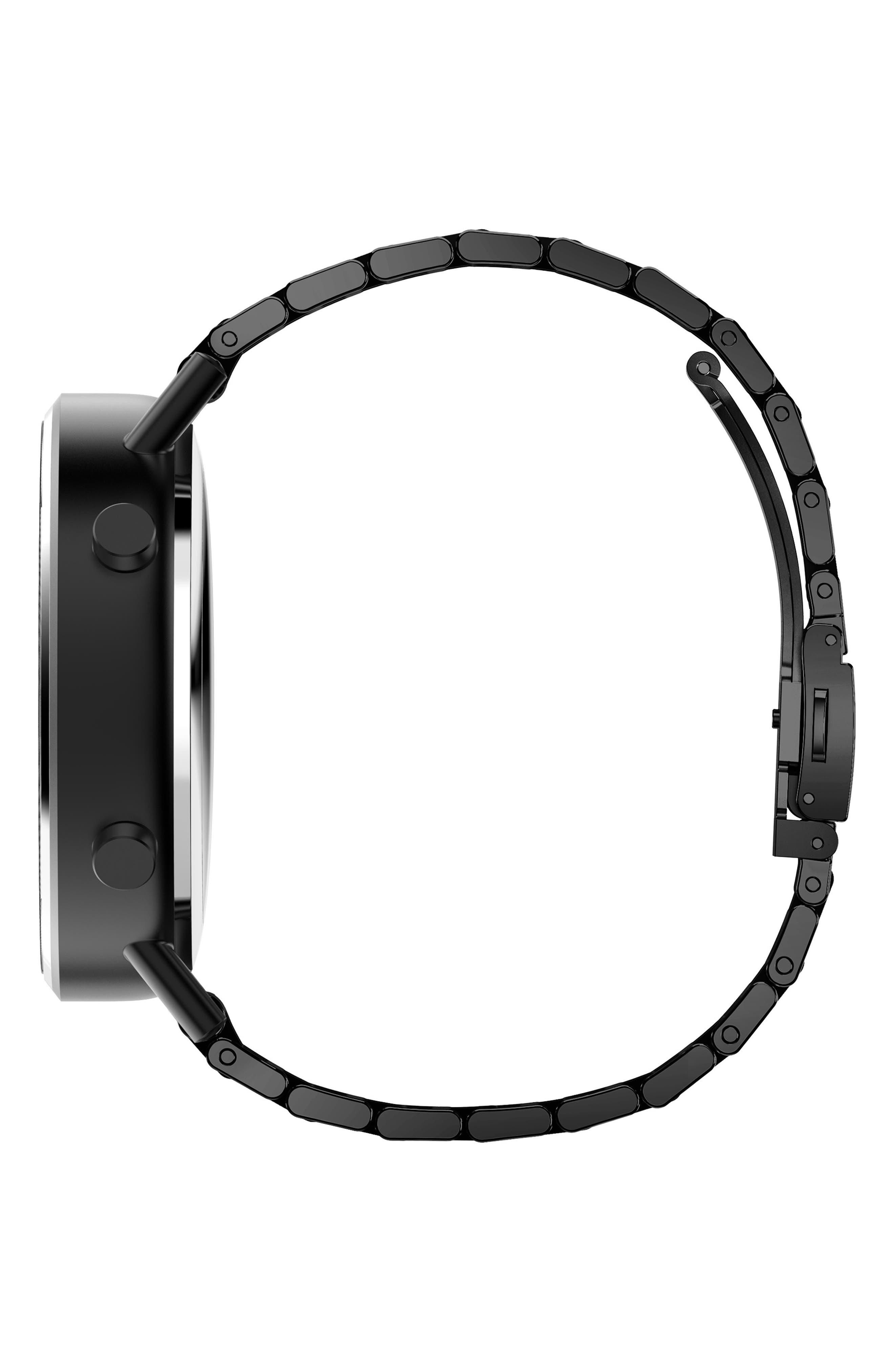 Command Hybrid Bracelet Smart Watch, 44mm,                             Alternate thumbnail 3, color,                             BLACK