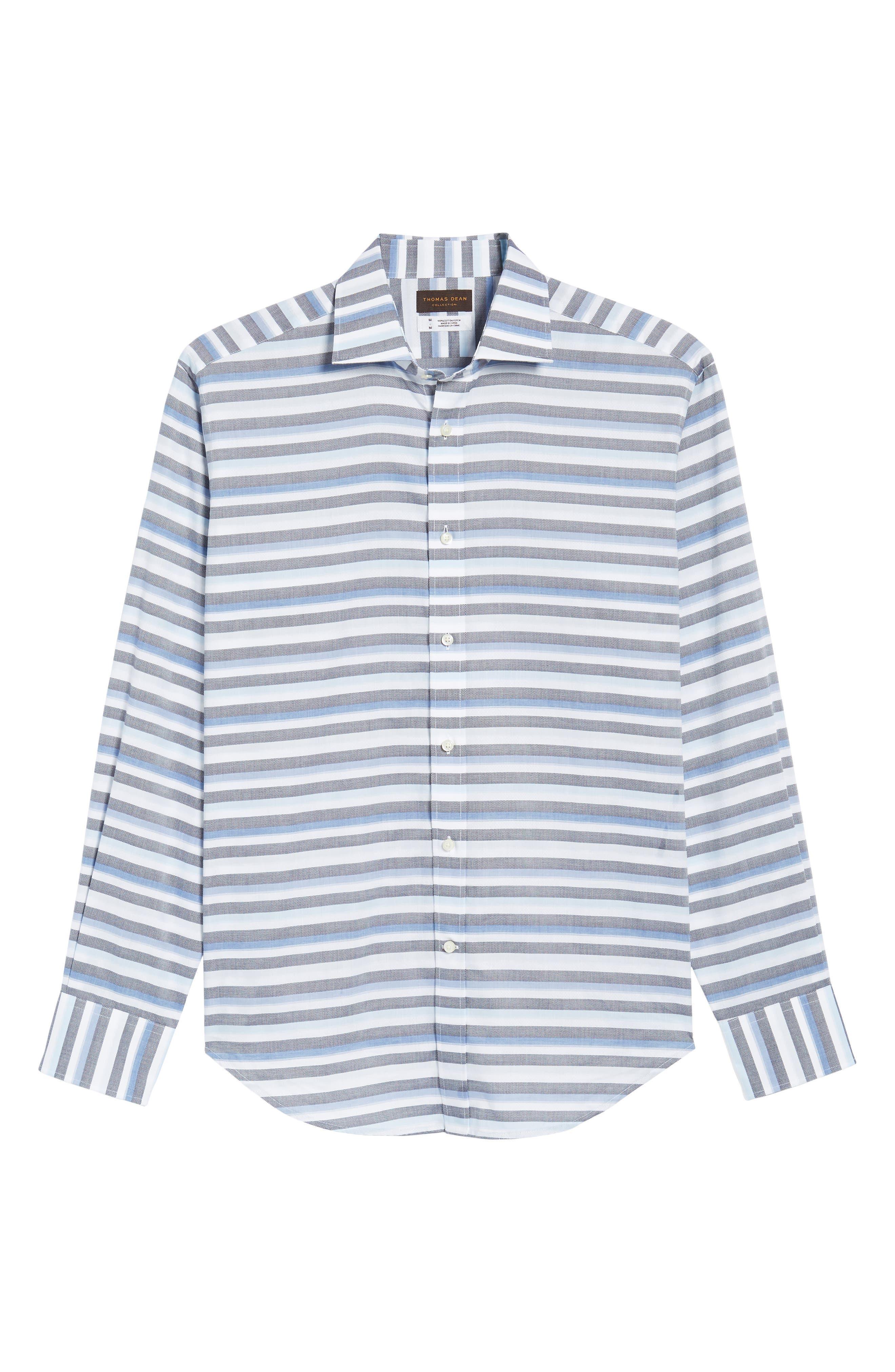 Stripe Sport Shirt,                             Alternate thumbnail 6, color,                             400