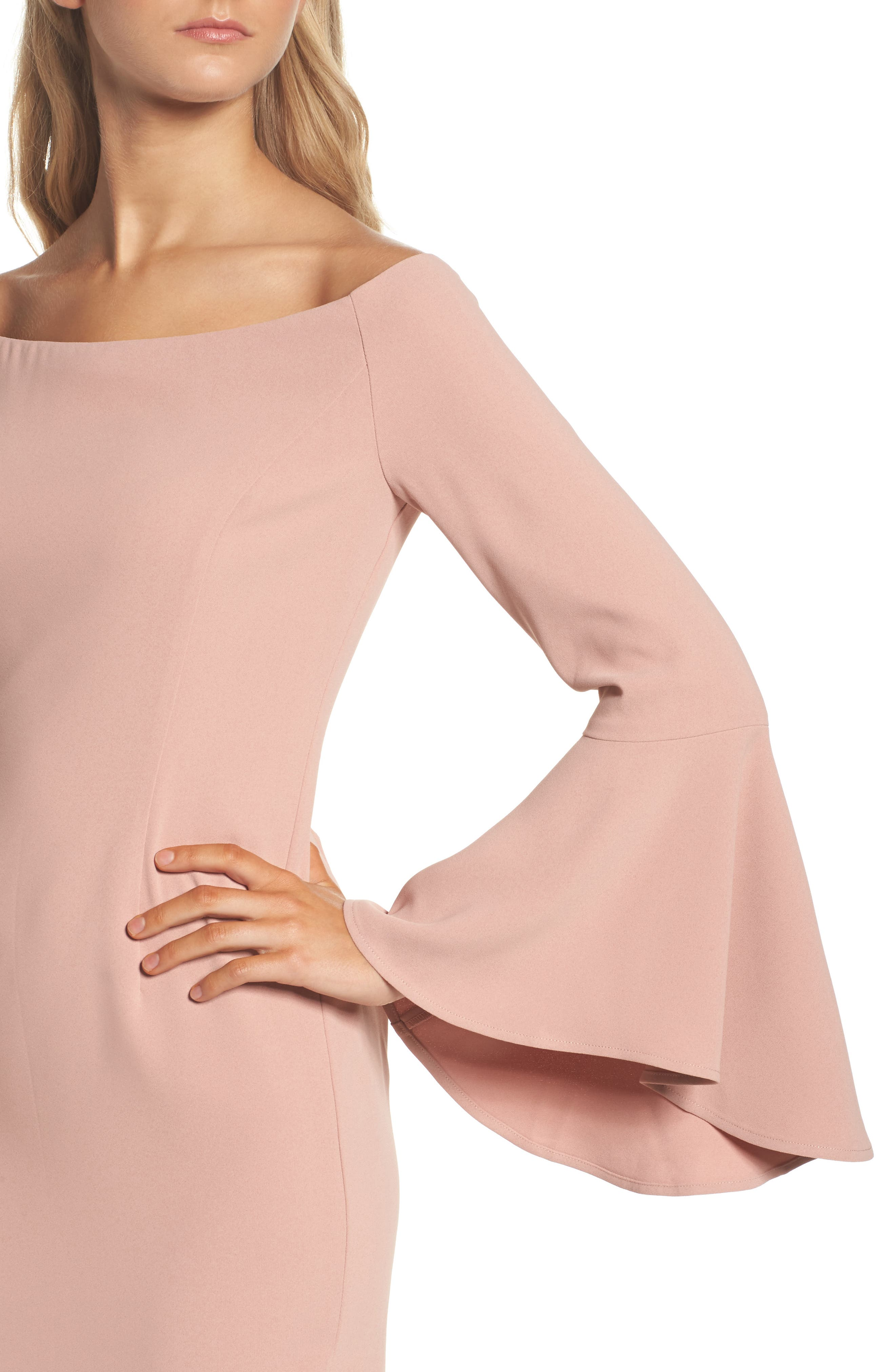 'Solange' Off the Shoulder Midi Dress,                             Alternate thumbnail 16, color,