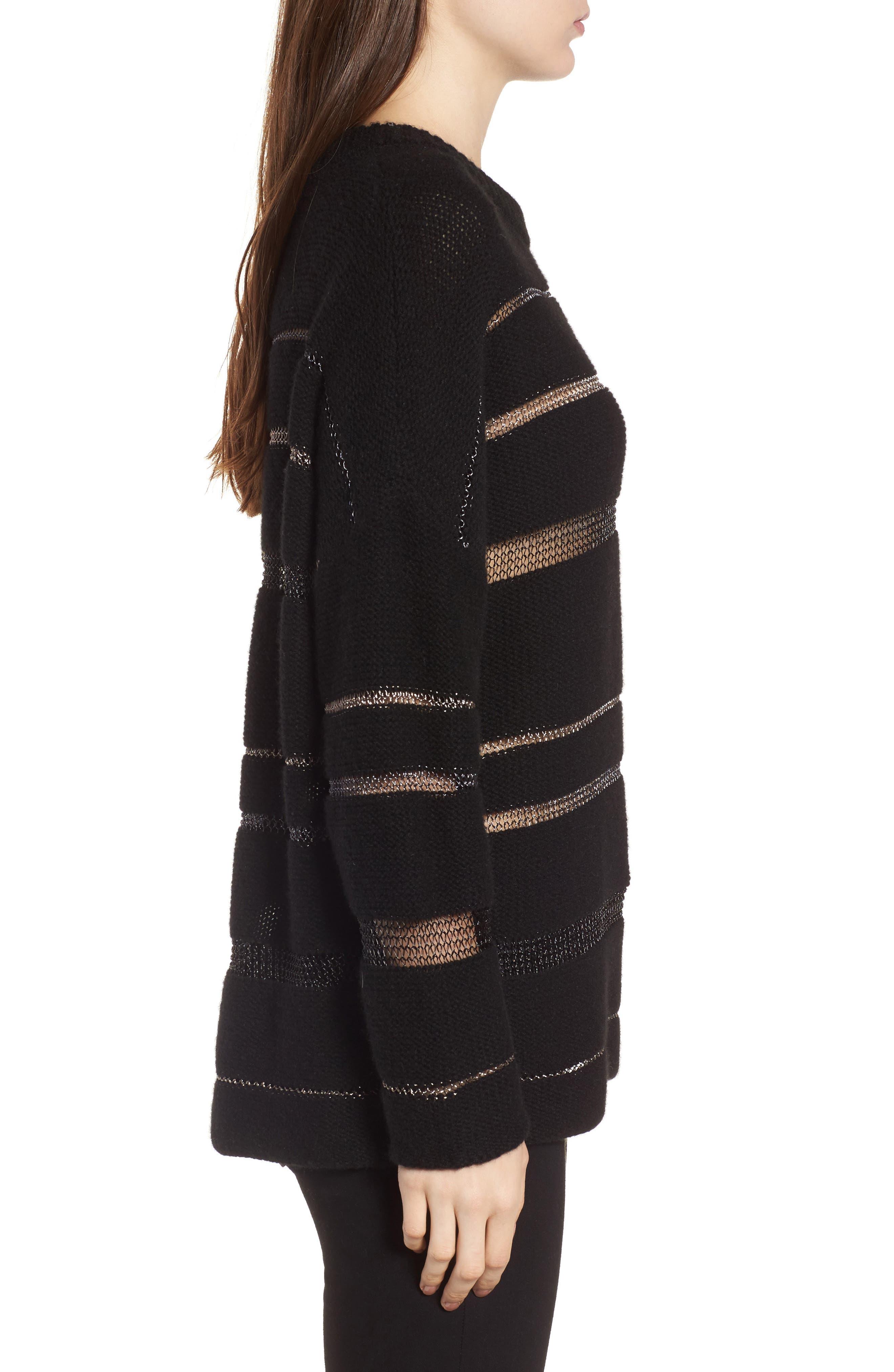 Daphne Stripe Sweater,                             Alternate thumbnail 3, color,                             005
