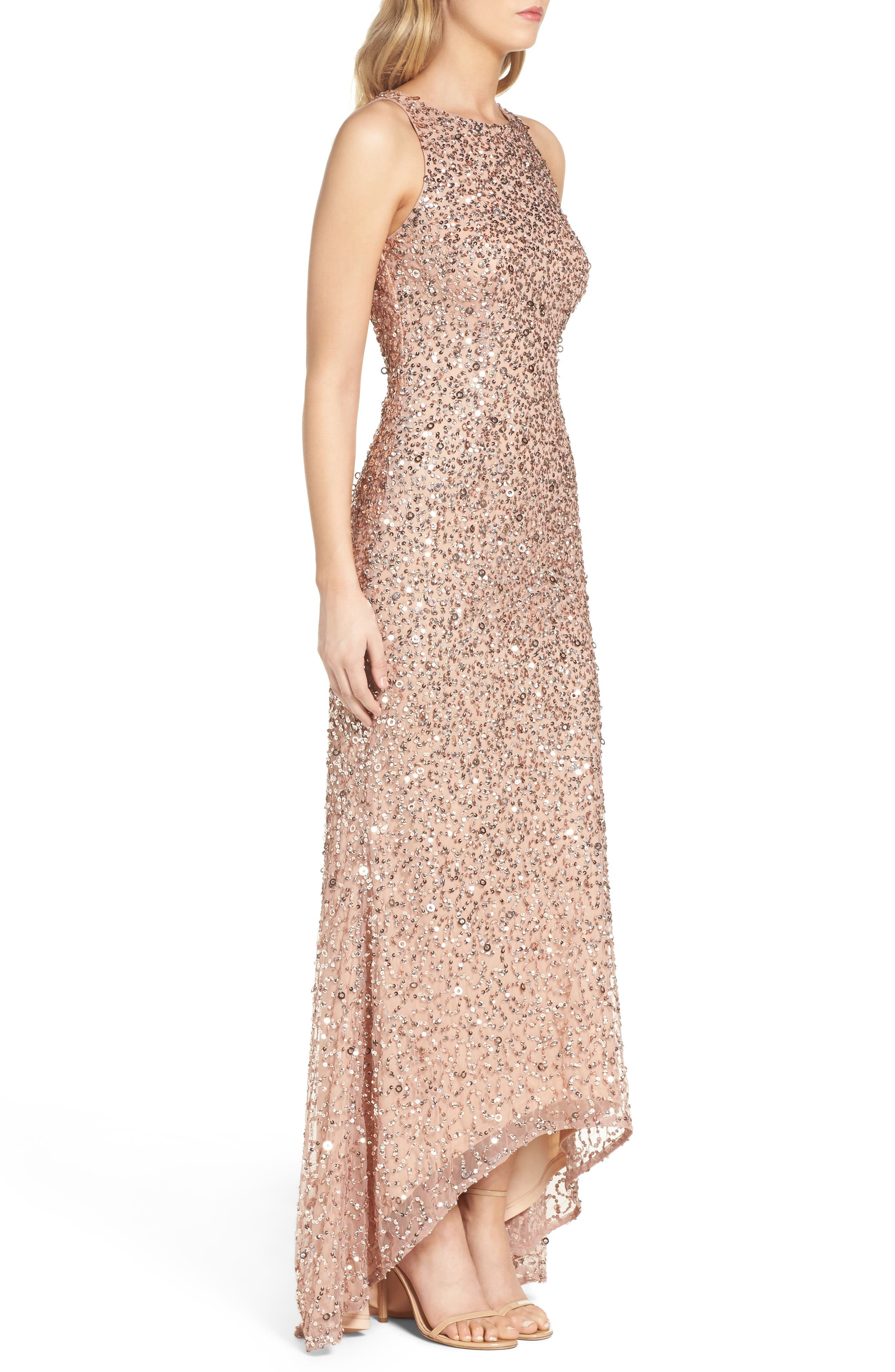 Sequin High/Low Gown,                             Alternate thumbnail 14, color,