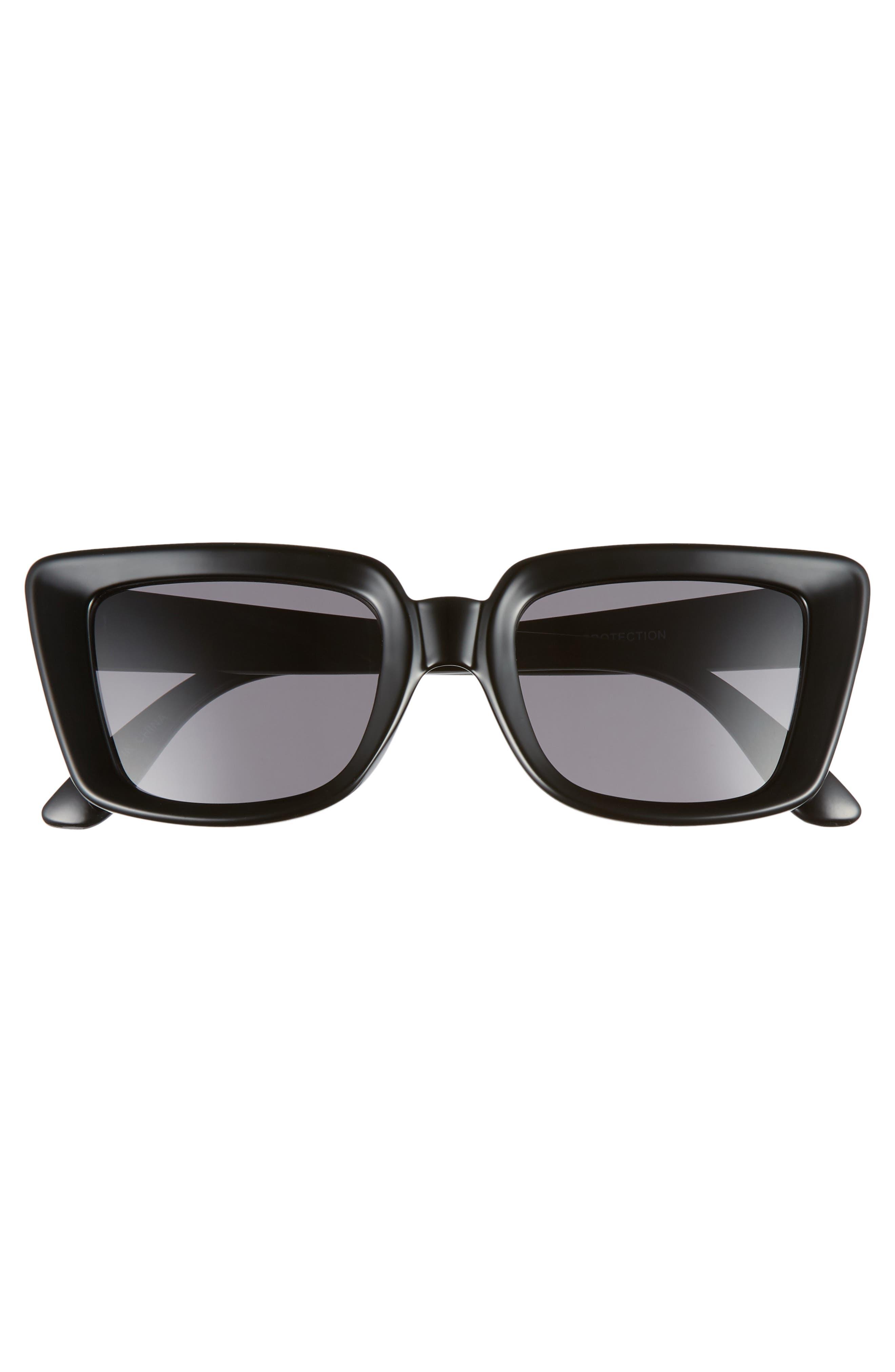68mm Oversize Square Sunglasses,                             Alternate thumbnail 3, color,                             BLACK/ GOLD