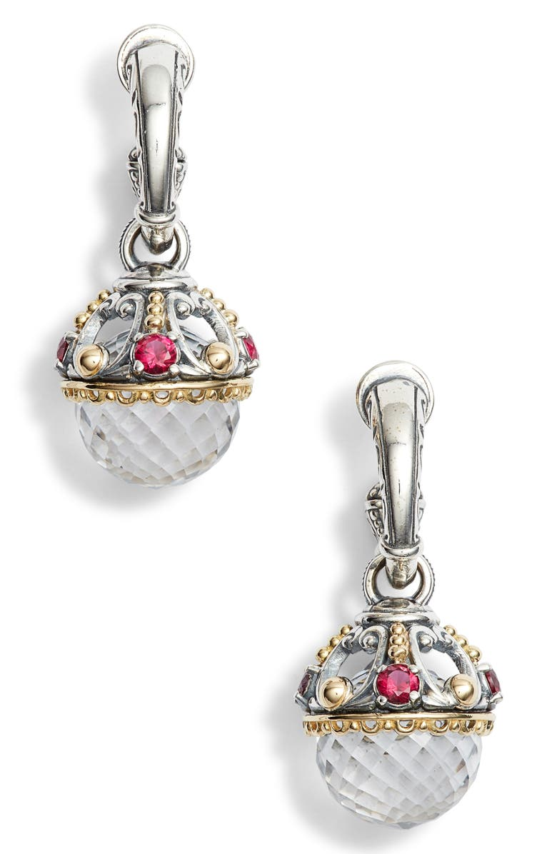 Konstantino PYTHIA ROUND DROP CRYSTAL EARRINGS