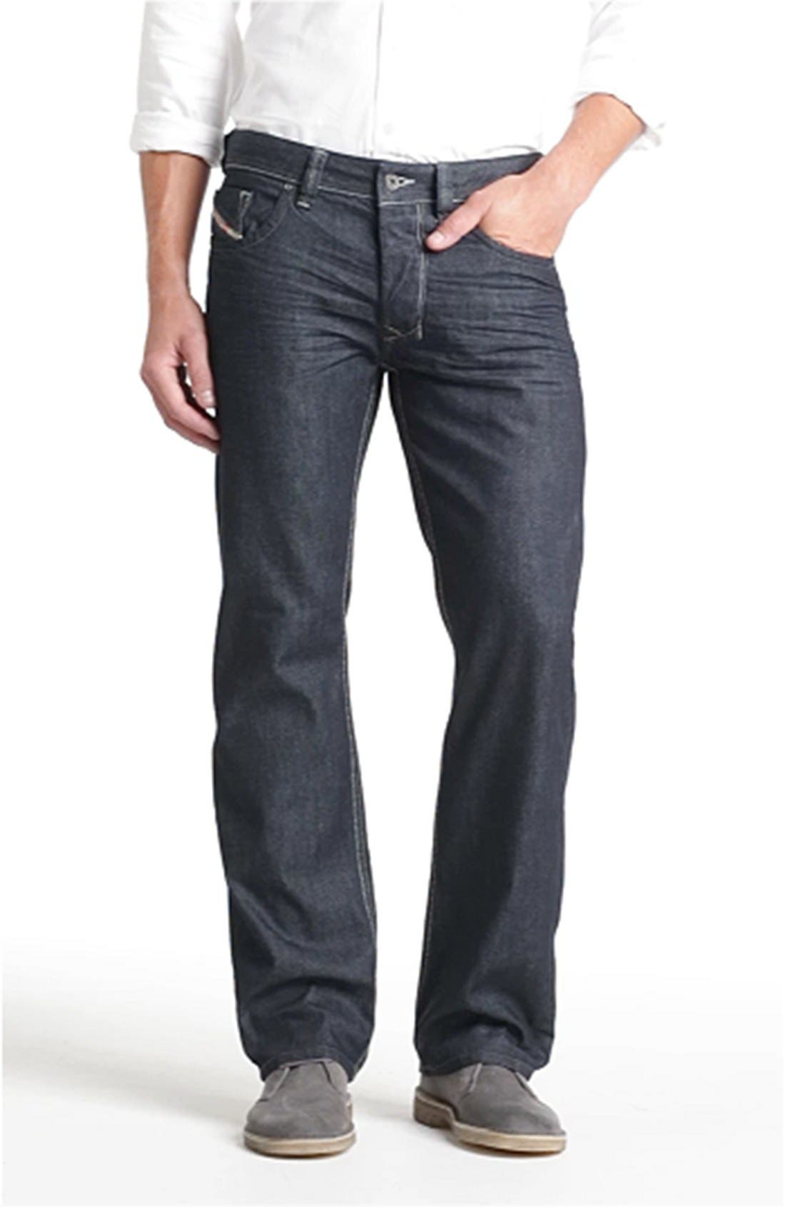 'Larkee' Straight Leg Jeans,                             Alternate thumbnail 5, color,                             400