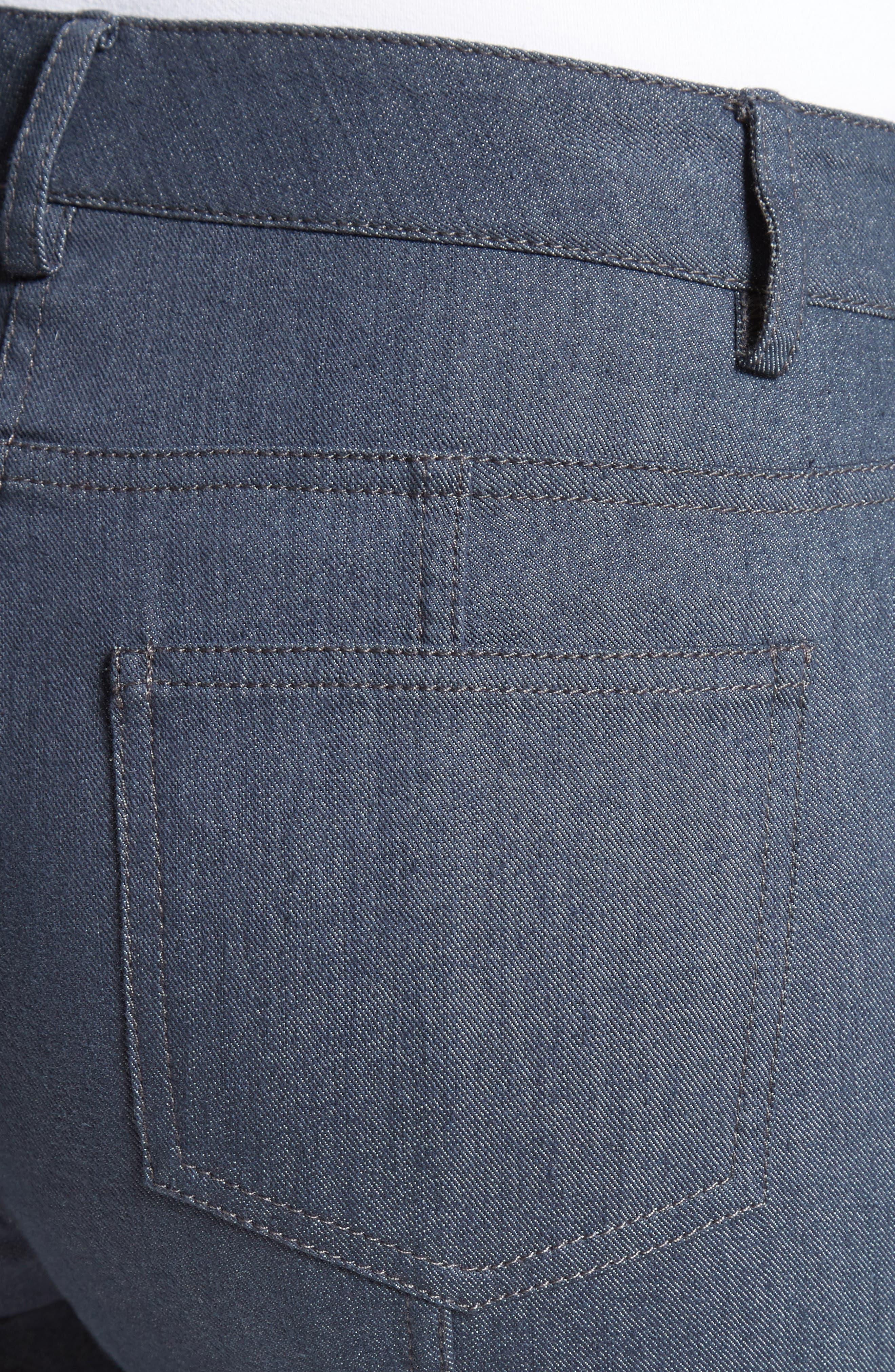 Stretch Denim Slim Ankle Pants,                             Alternate thumbnail 4, color,                             400