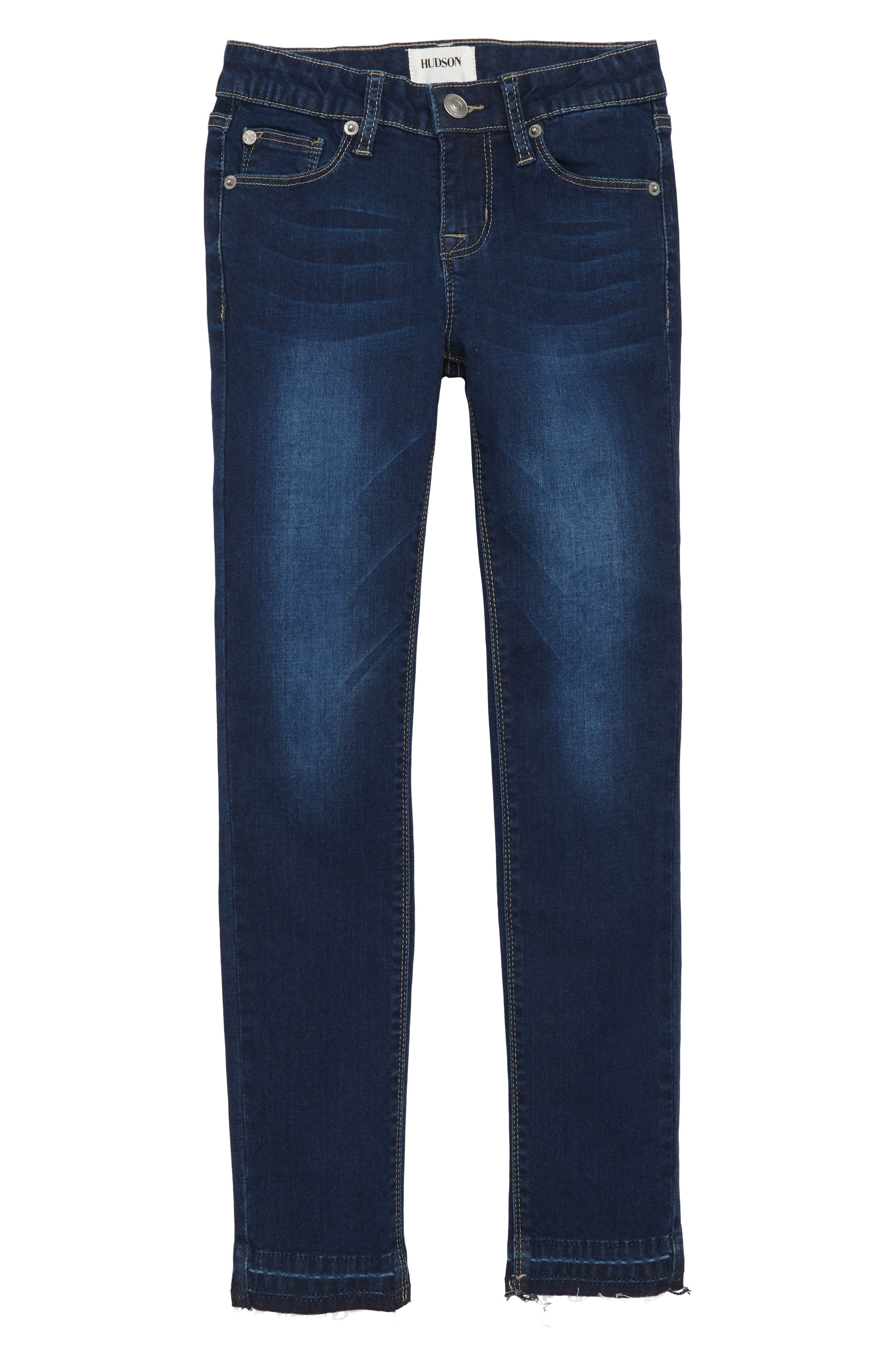 Christa Release Hem Skinny Jeans,                             Main thumbnail 1, color,                             GLEAM WASH