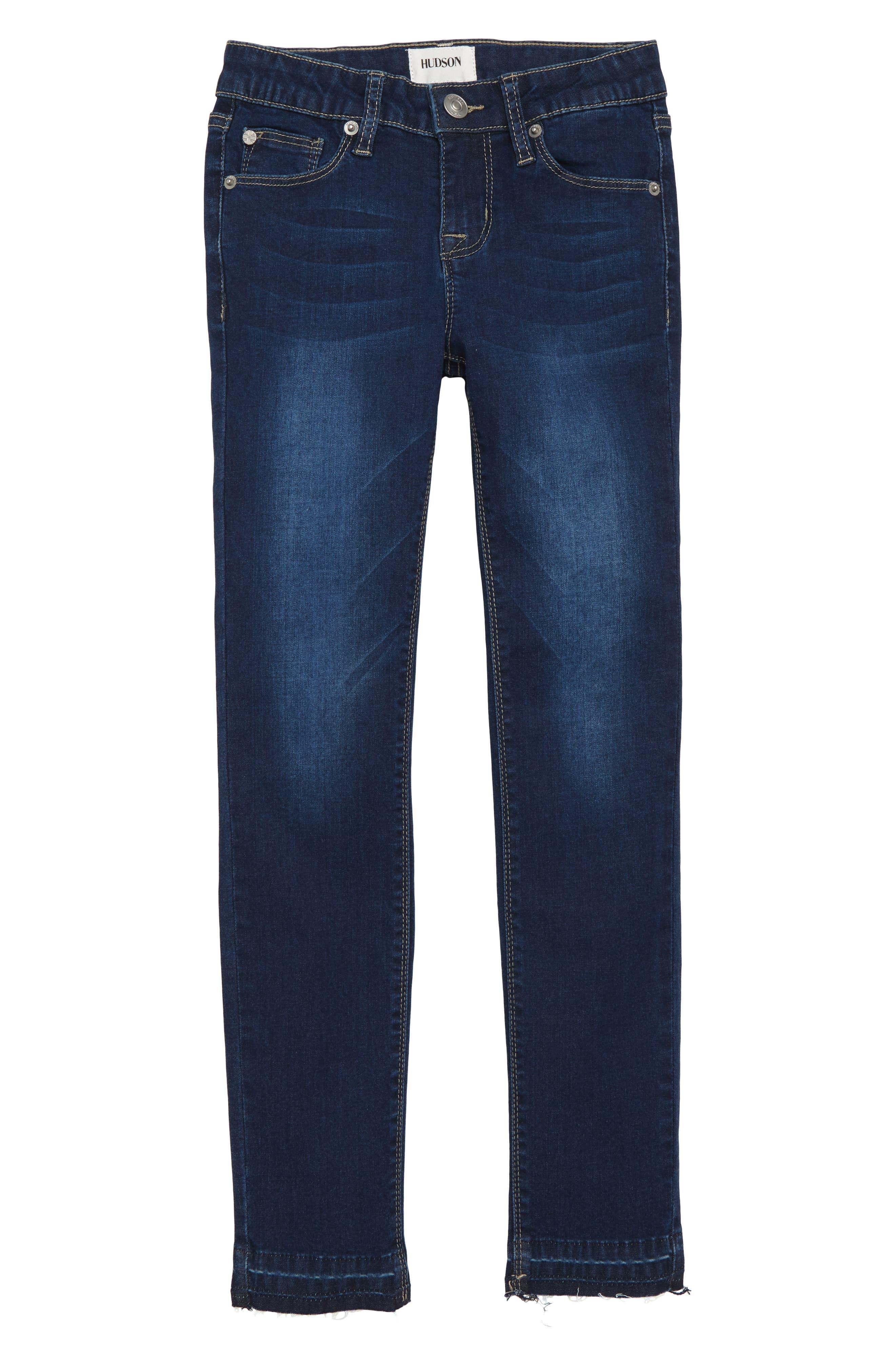 Christa Release Hem Skinny Jeans,                         Main,                         color, GLEAM WASH
