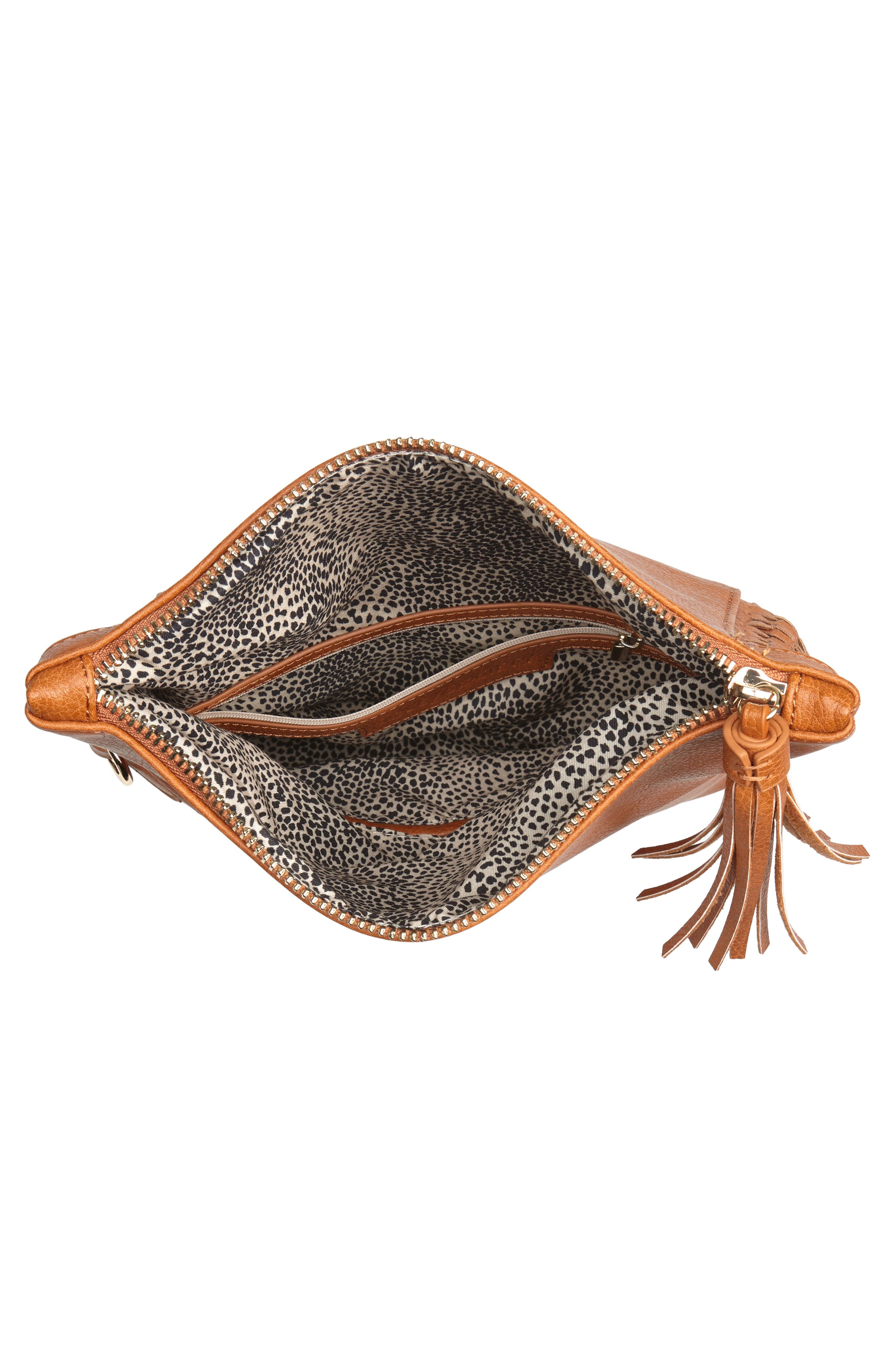 Tara Whipstitched Faux Leather Clutch,                             Alternate thumbnail 4, color,                             230