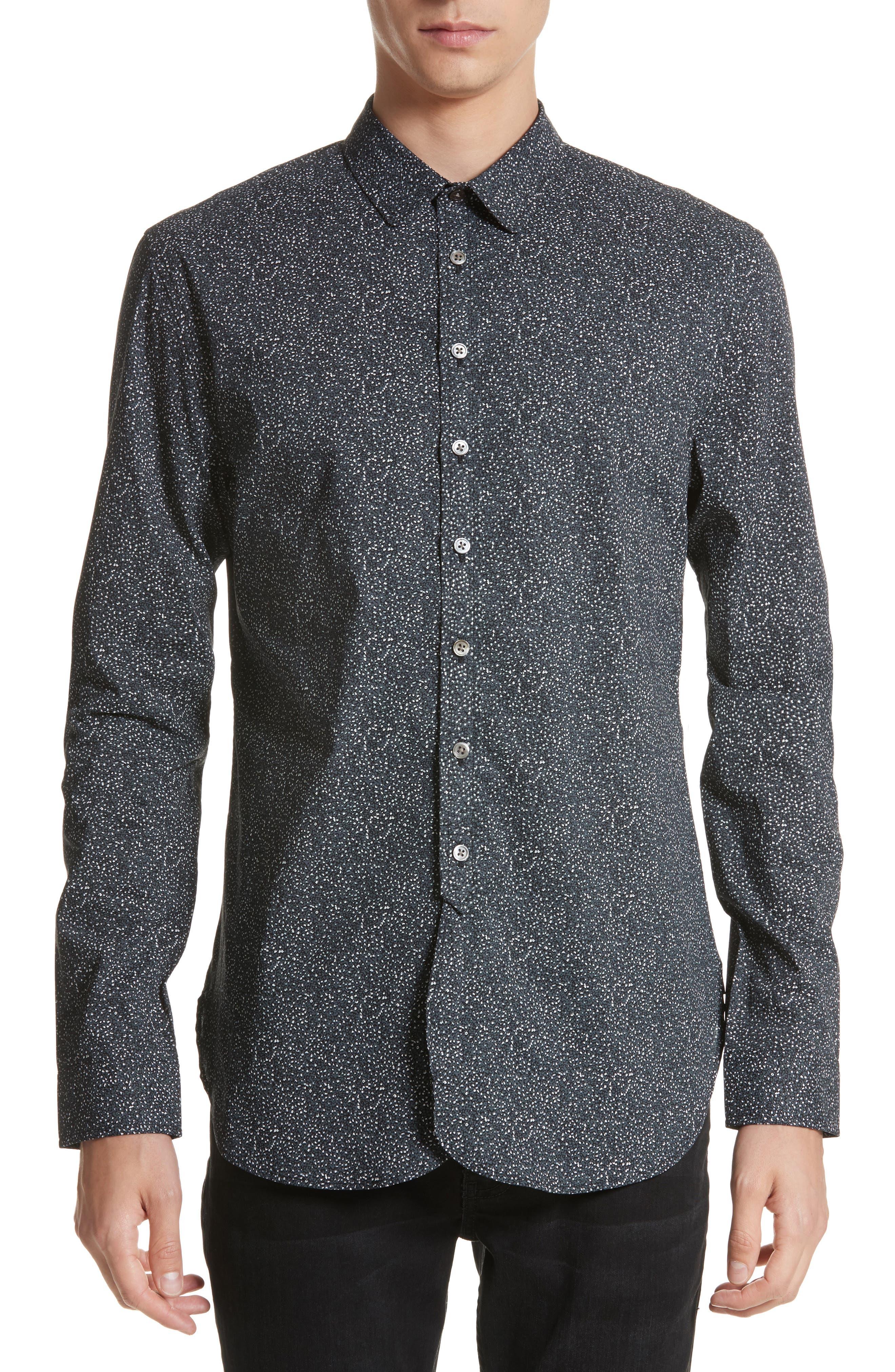 Dot Print Shirt,                         Main,                         color, 006