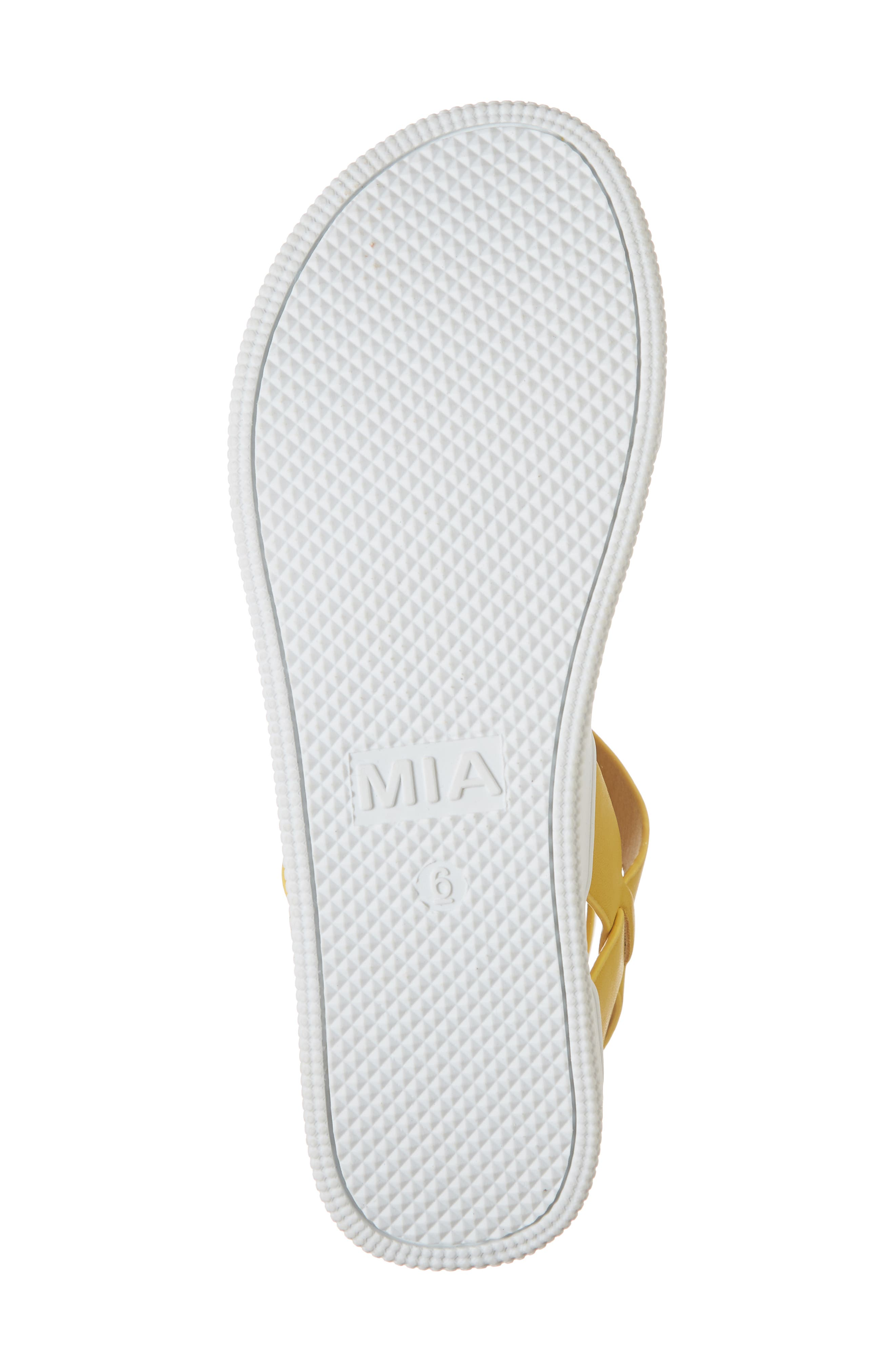 Calla Platform Sandal,                             Alternate thumbnail 6, color,                             YELLOW FAUX LEATHER