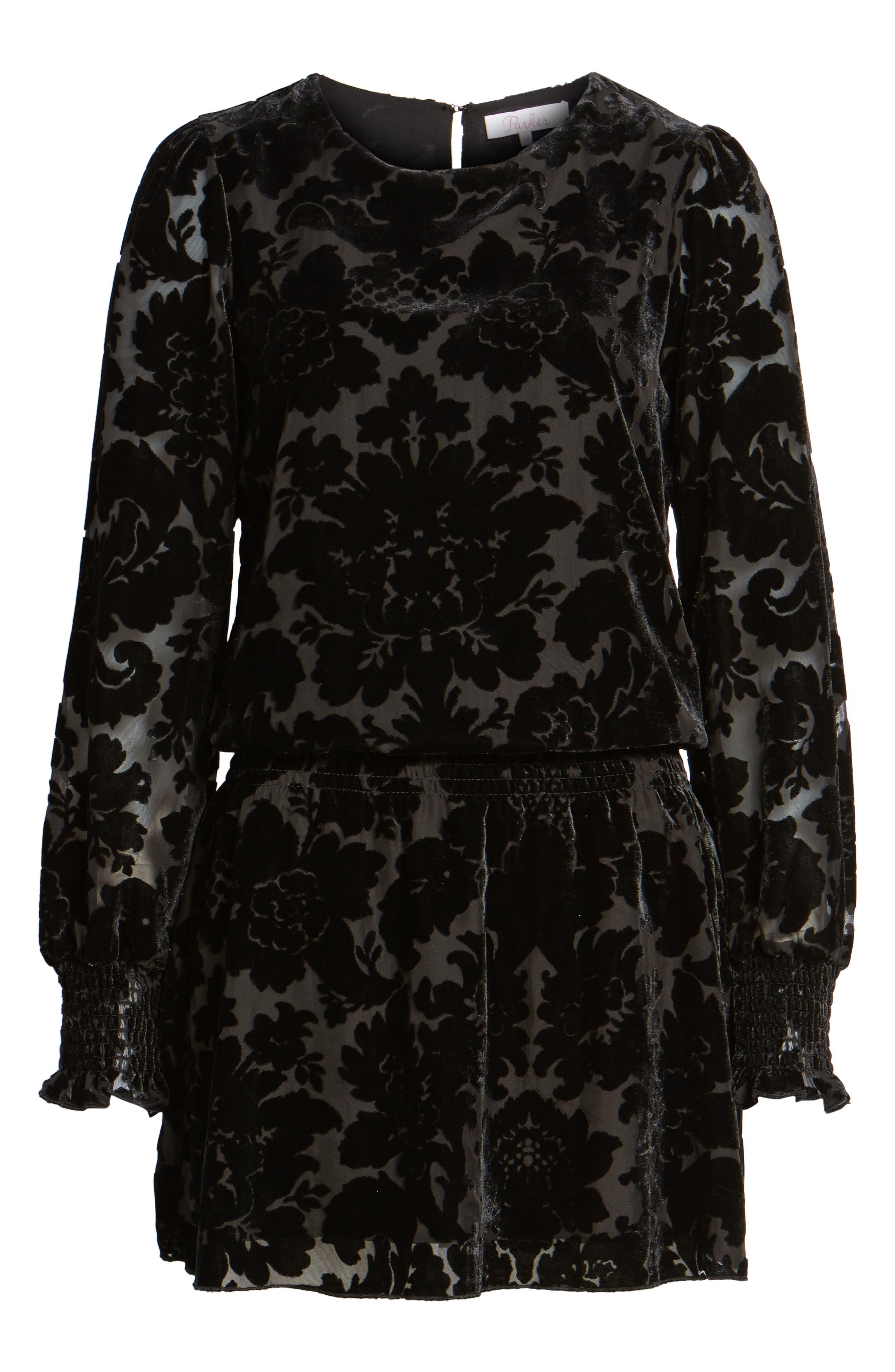 Carmindy Blouson Dress,                             Alternate thumbnail 6, color,                             001