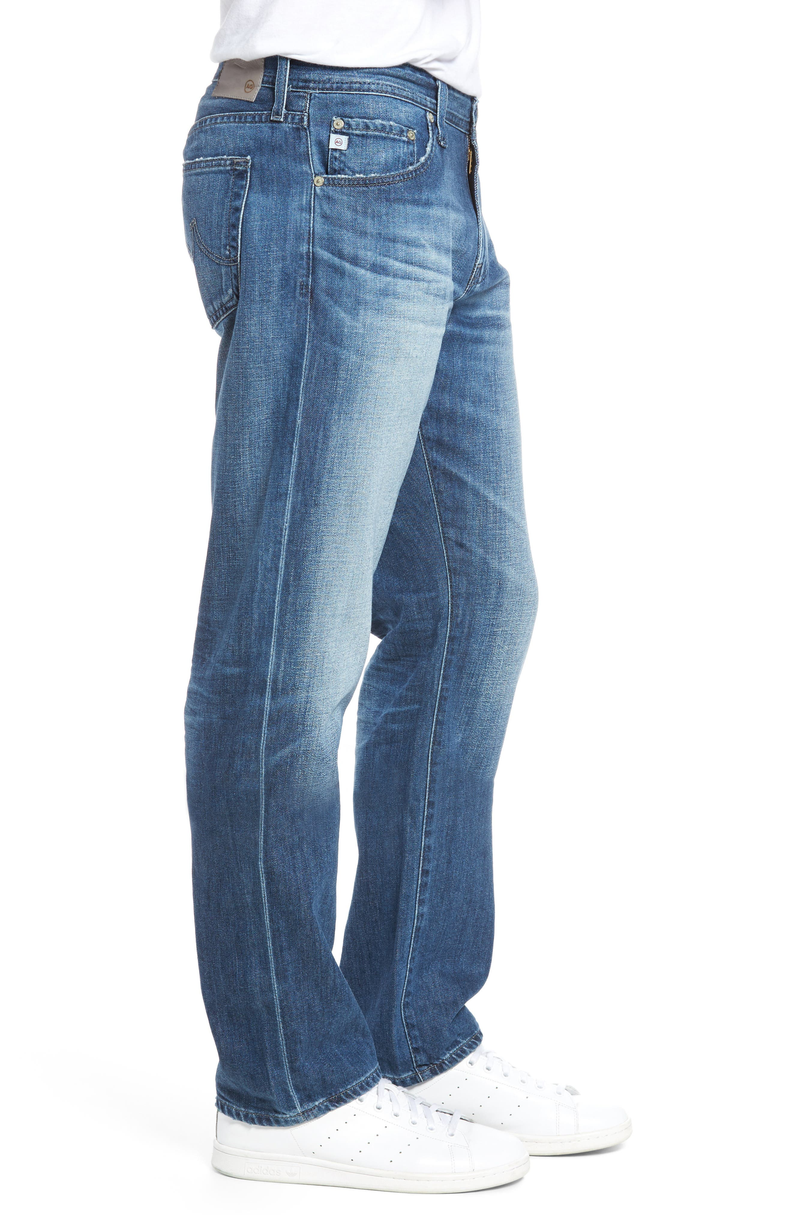 Graduate Slim Straight Fit Jeans,                             Alternate thumbnail 3, color,