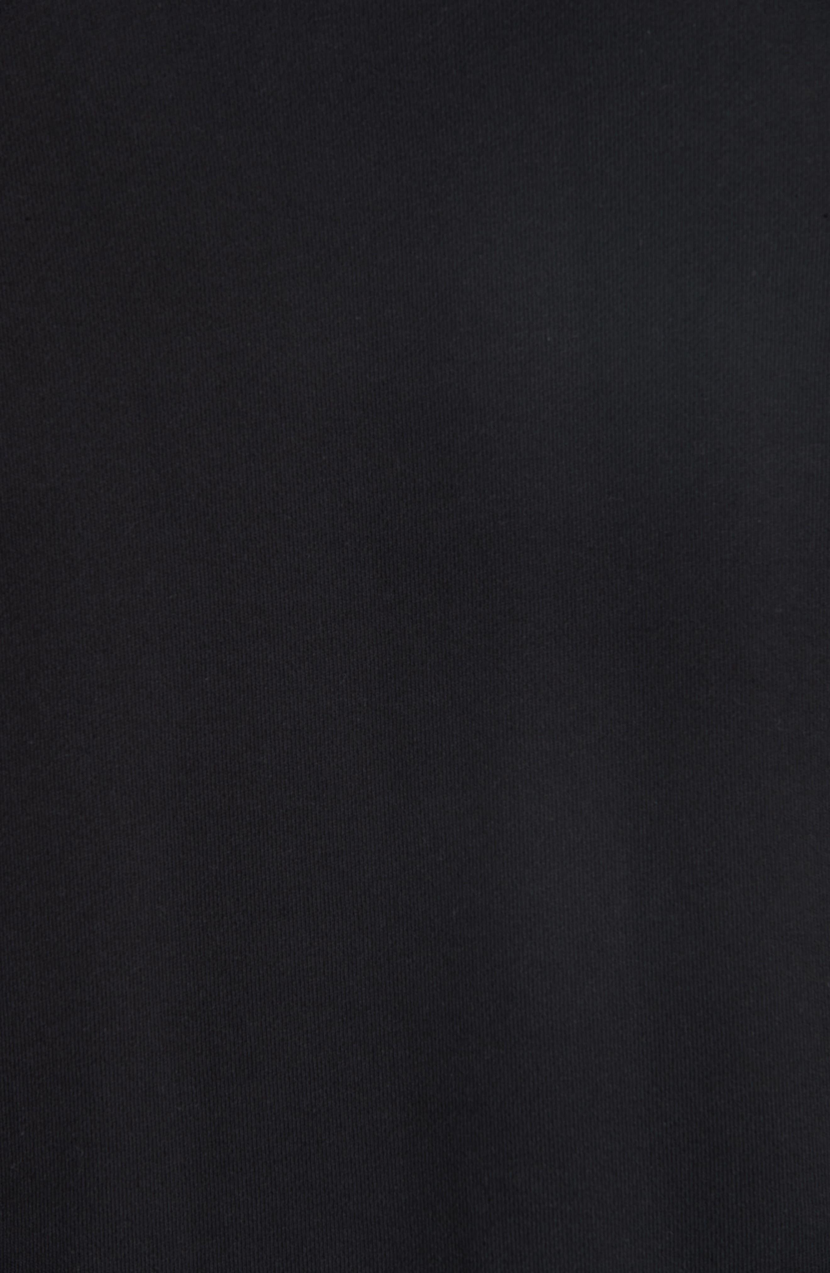 Raglan Crewneck Sweatshirt,                             Alternate thumbnail 5, color,                             BLACK