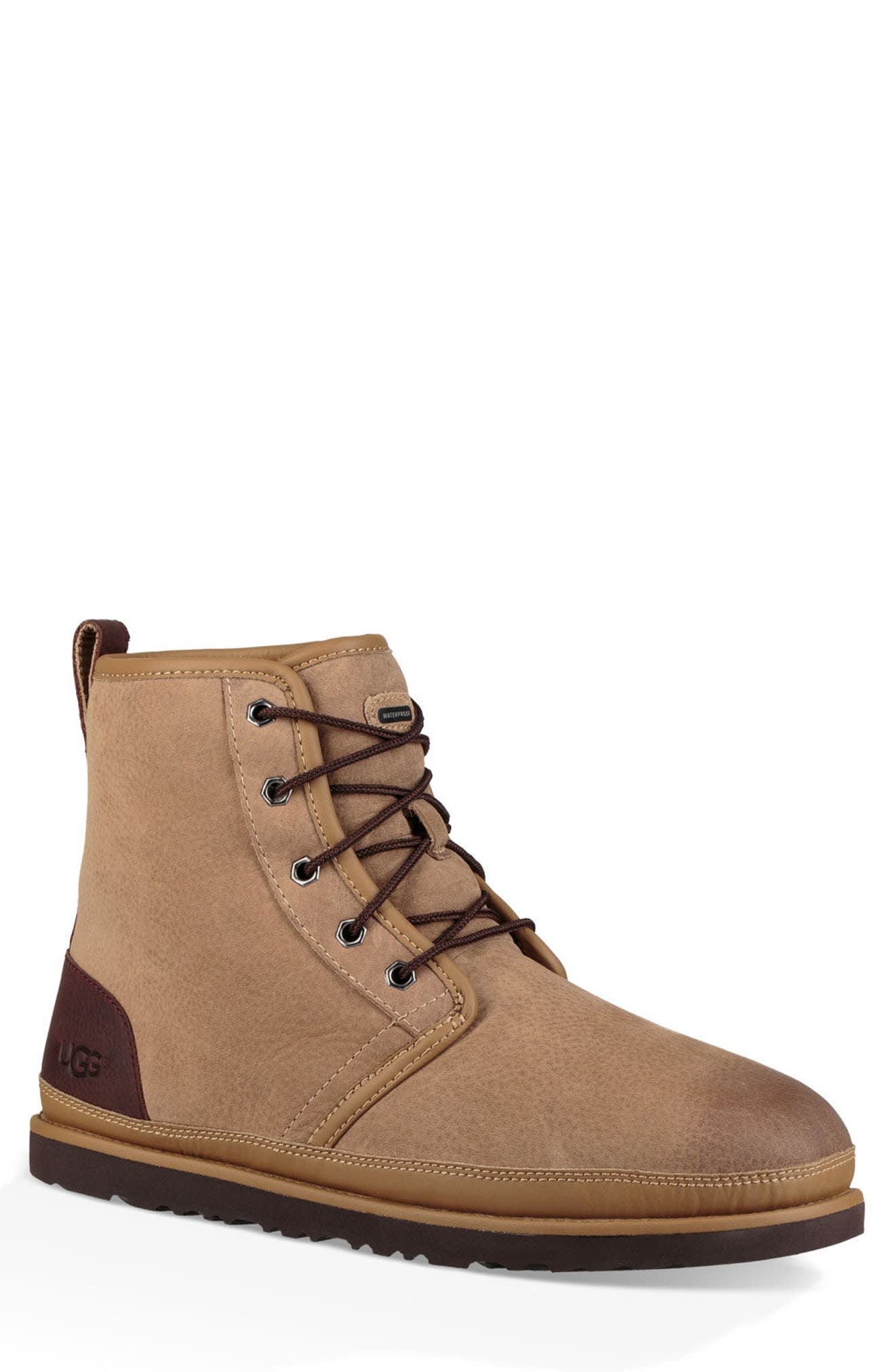 Harkley Waterproof Lace-Up Boot,                         Main,                         color, DESERT TAN