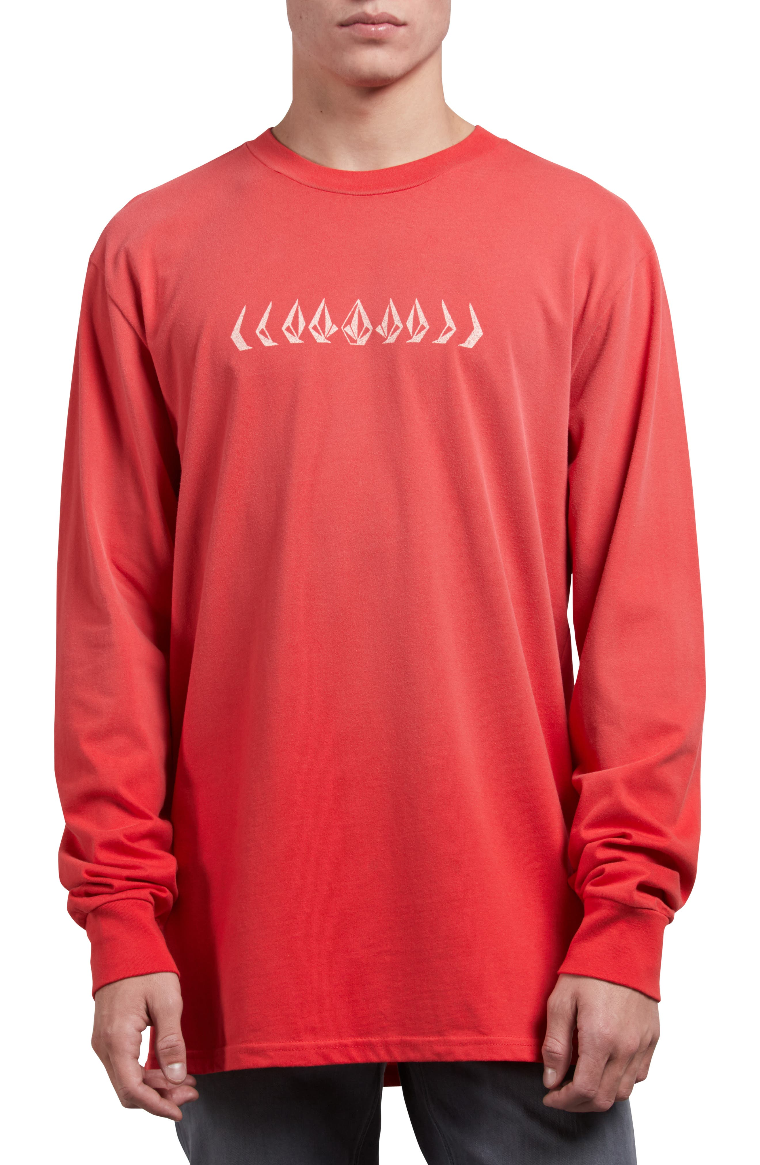 Stone Cycle Long Sleeve T-Shirt,                             Main thumbnail 1, color,                             SPARK RED