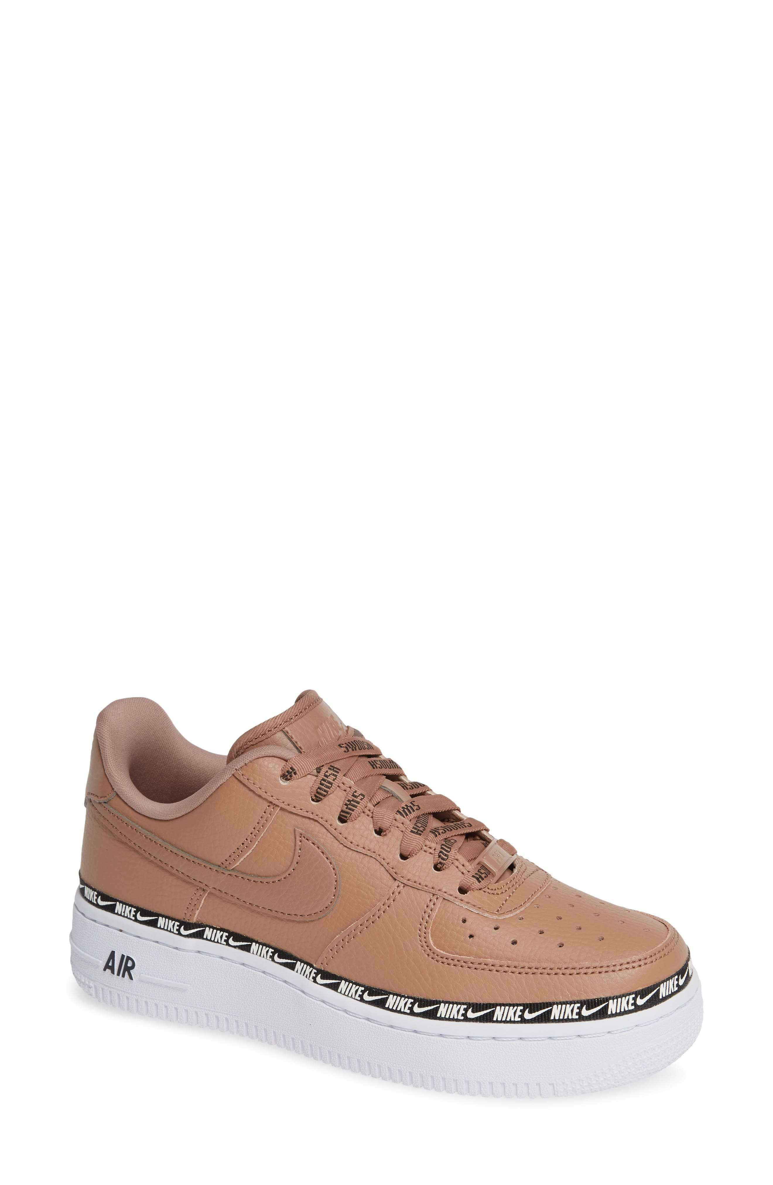 Air Force 1 '07 SE Premium Sneaker,                         Main,                         color, DESERT DUST/ BLACK/ WHITE