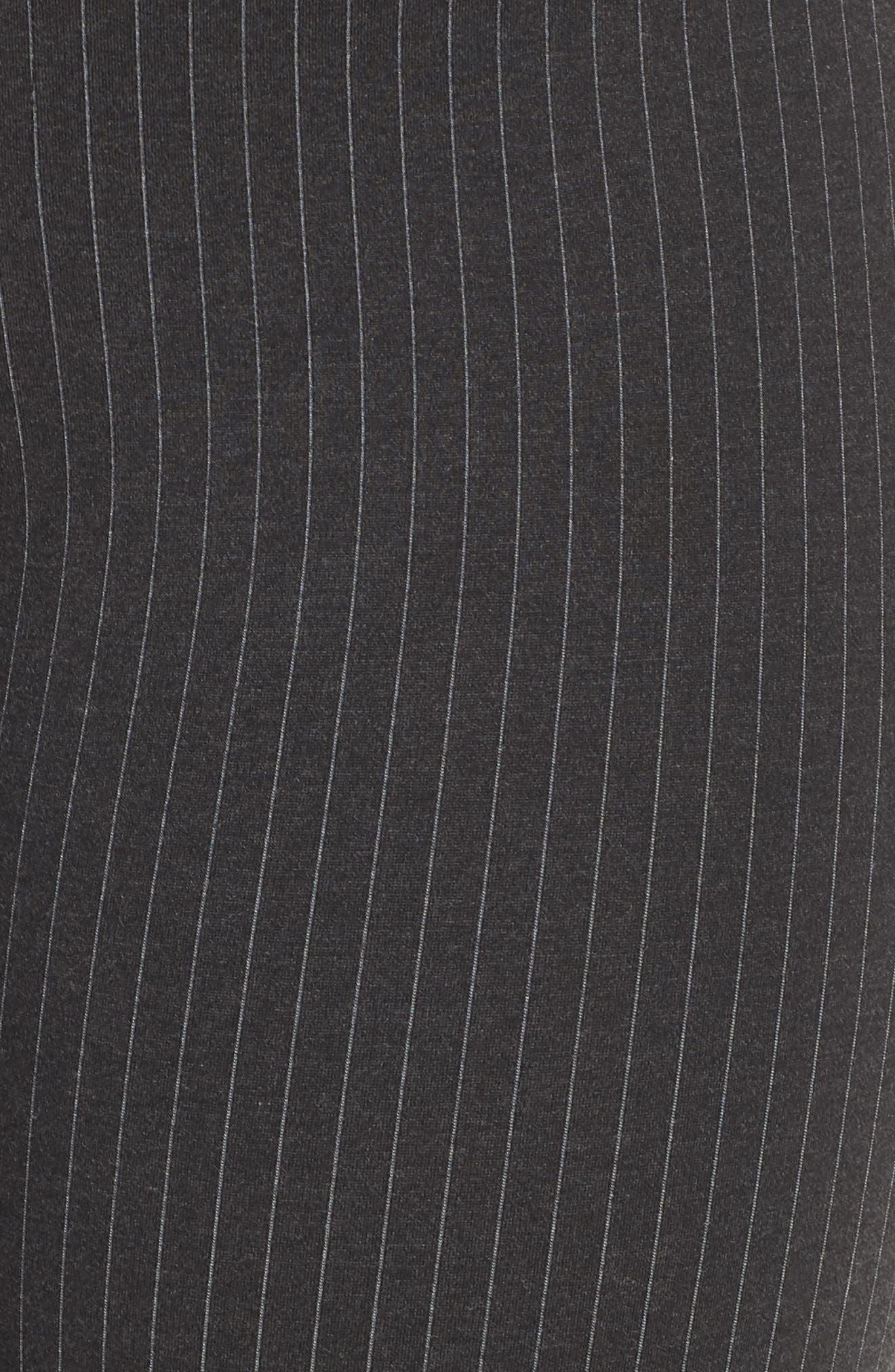 Ab-Solution Skinny Ponte Pants,                             Alternate thumbnail 12, color,                             CHARCOAL PIN STRIPE