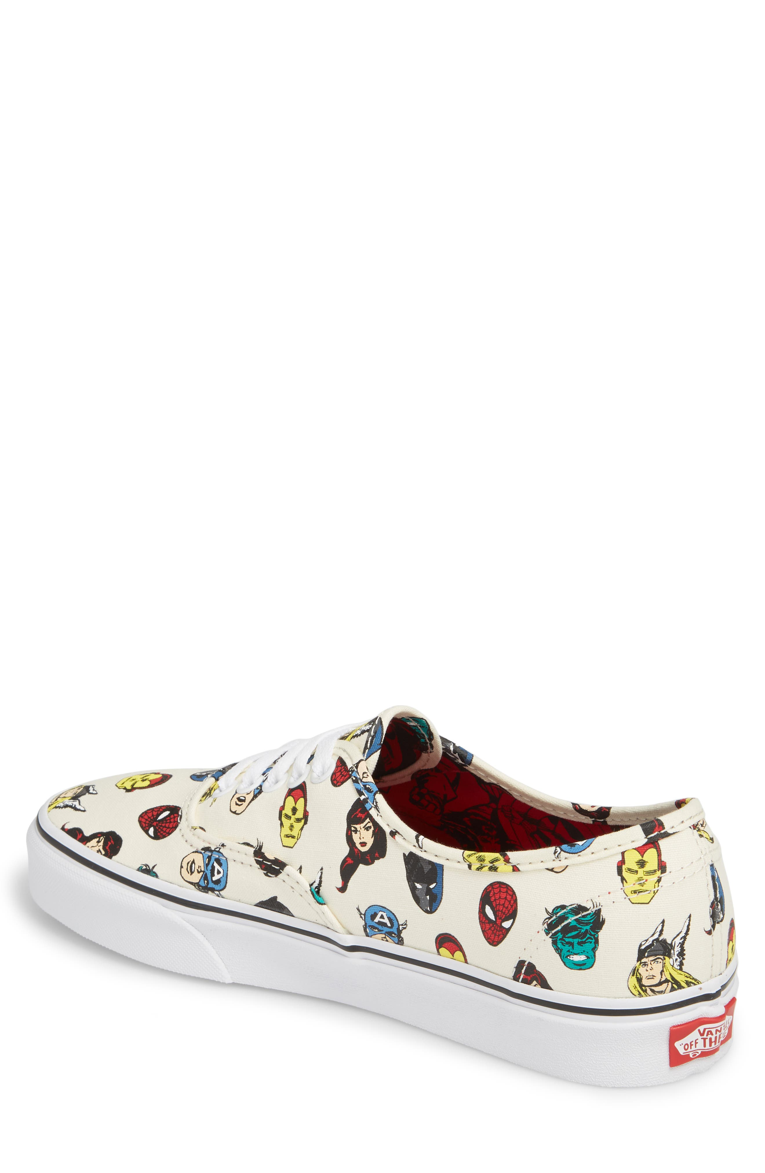 x Marvel<sup>®</sup> UA Authentic Sneaker,                             Alternate thumbnail 2, color,