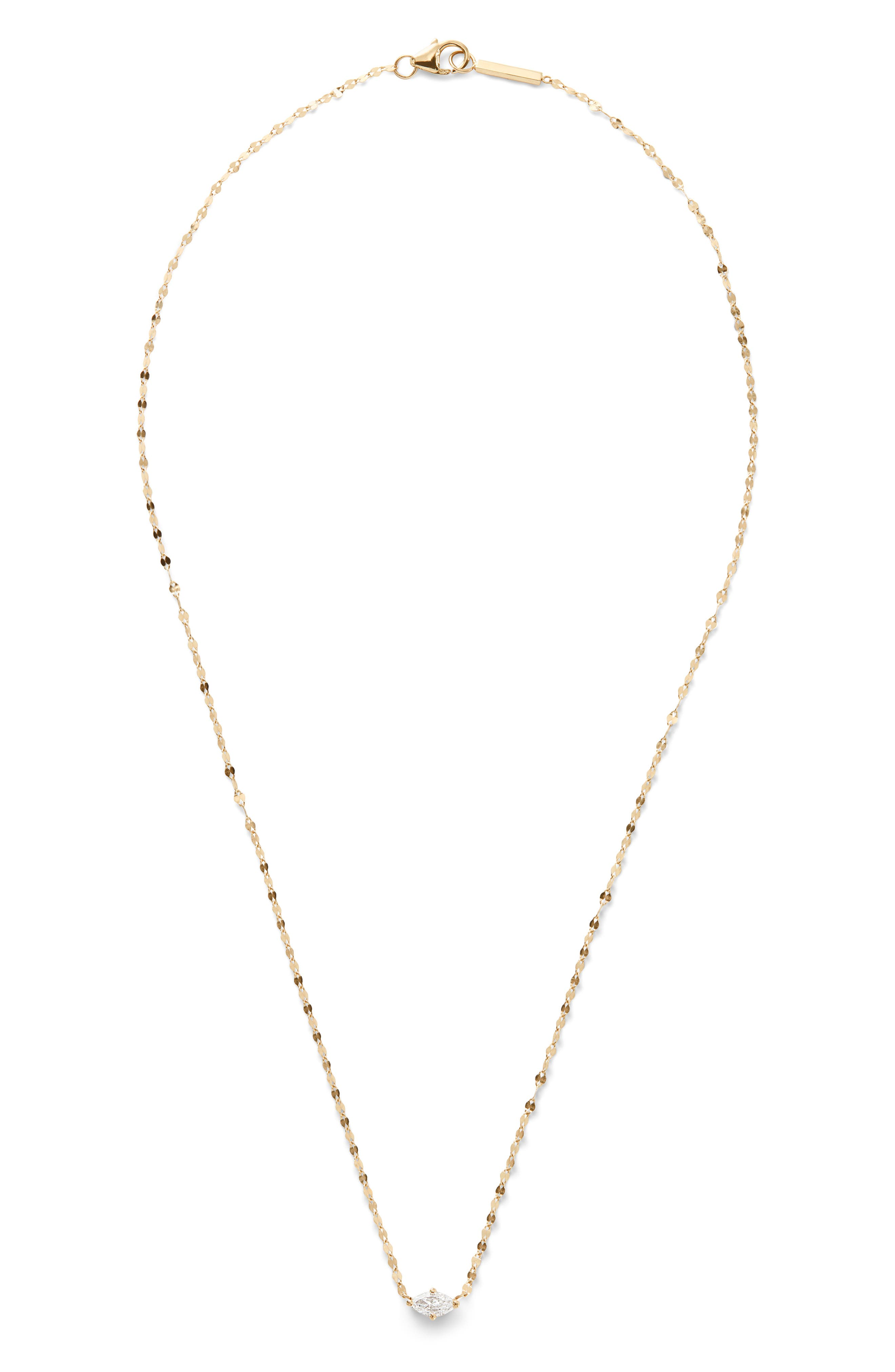 Marquise Diamond Chain Necklace,                             Main thumbnail 1, color,                             GOLD