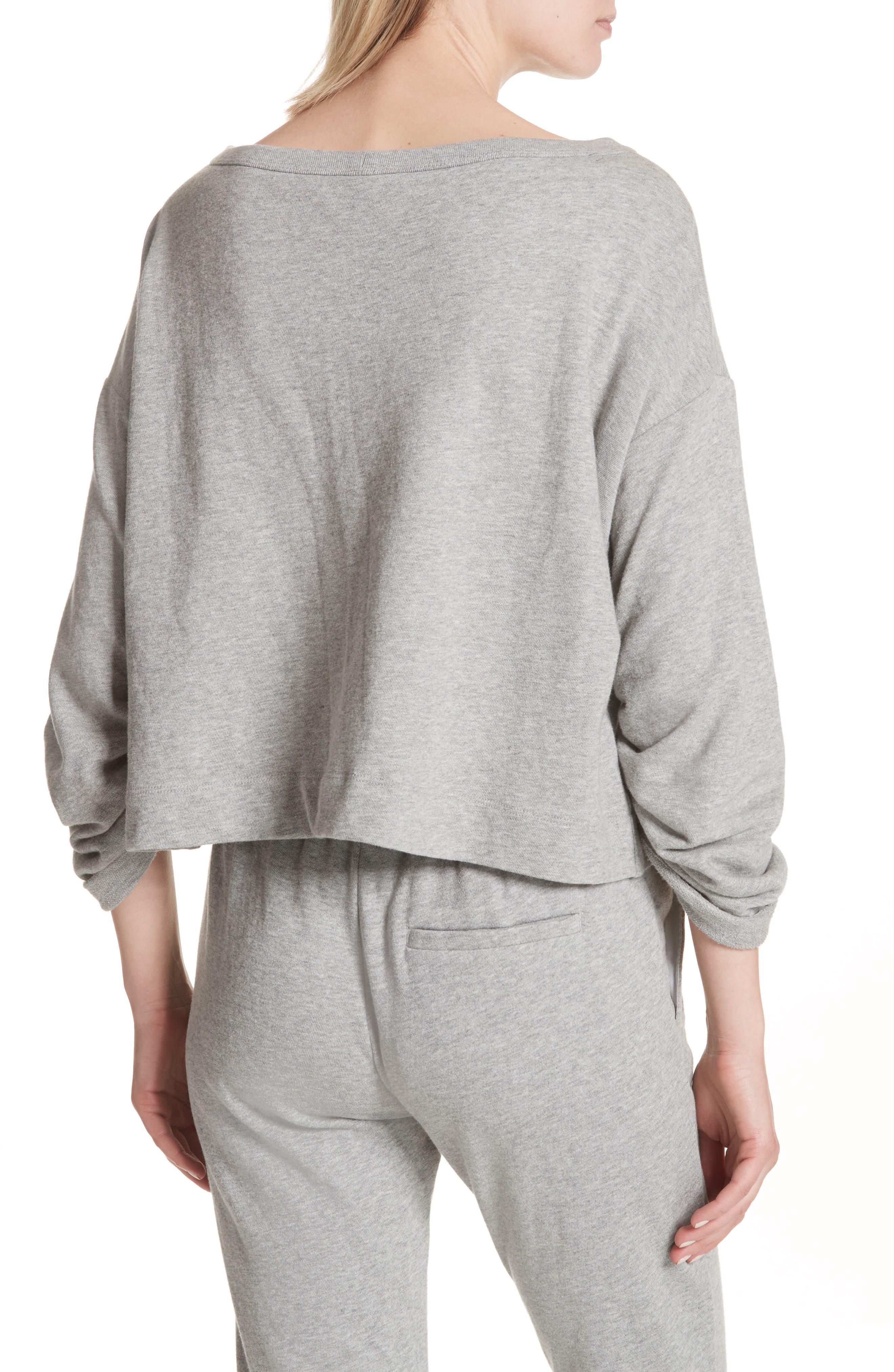 Ember Ruched Sleeve Sweatshirt,                             Alternate thumbnail 4, color,