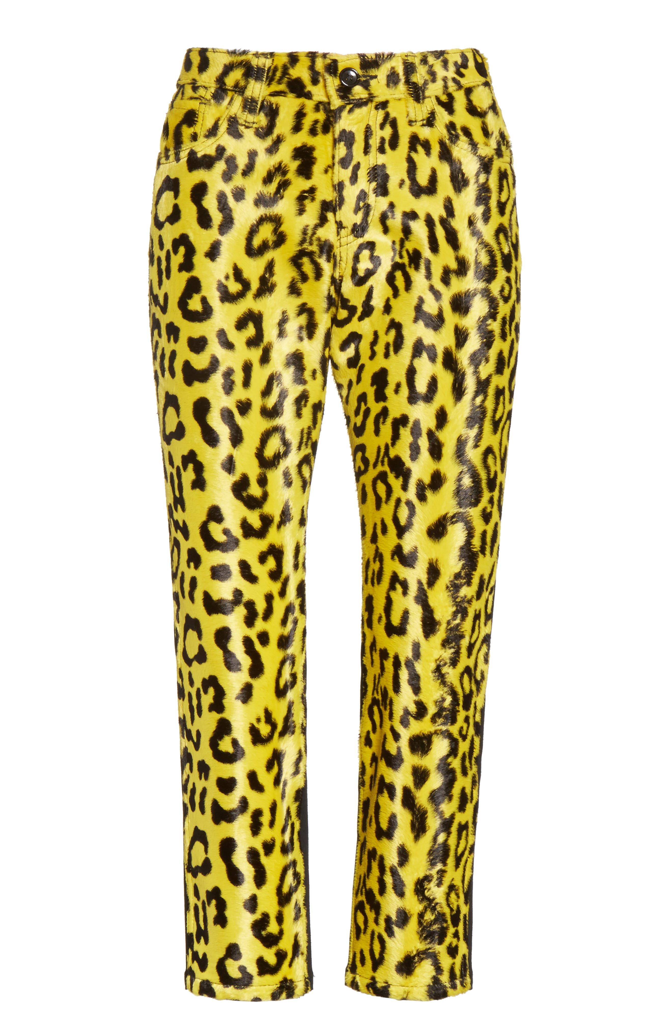 Cheetah Print Crop Skinny Pants,                             Alternate thumbnail 6, color,                             750