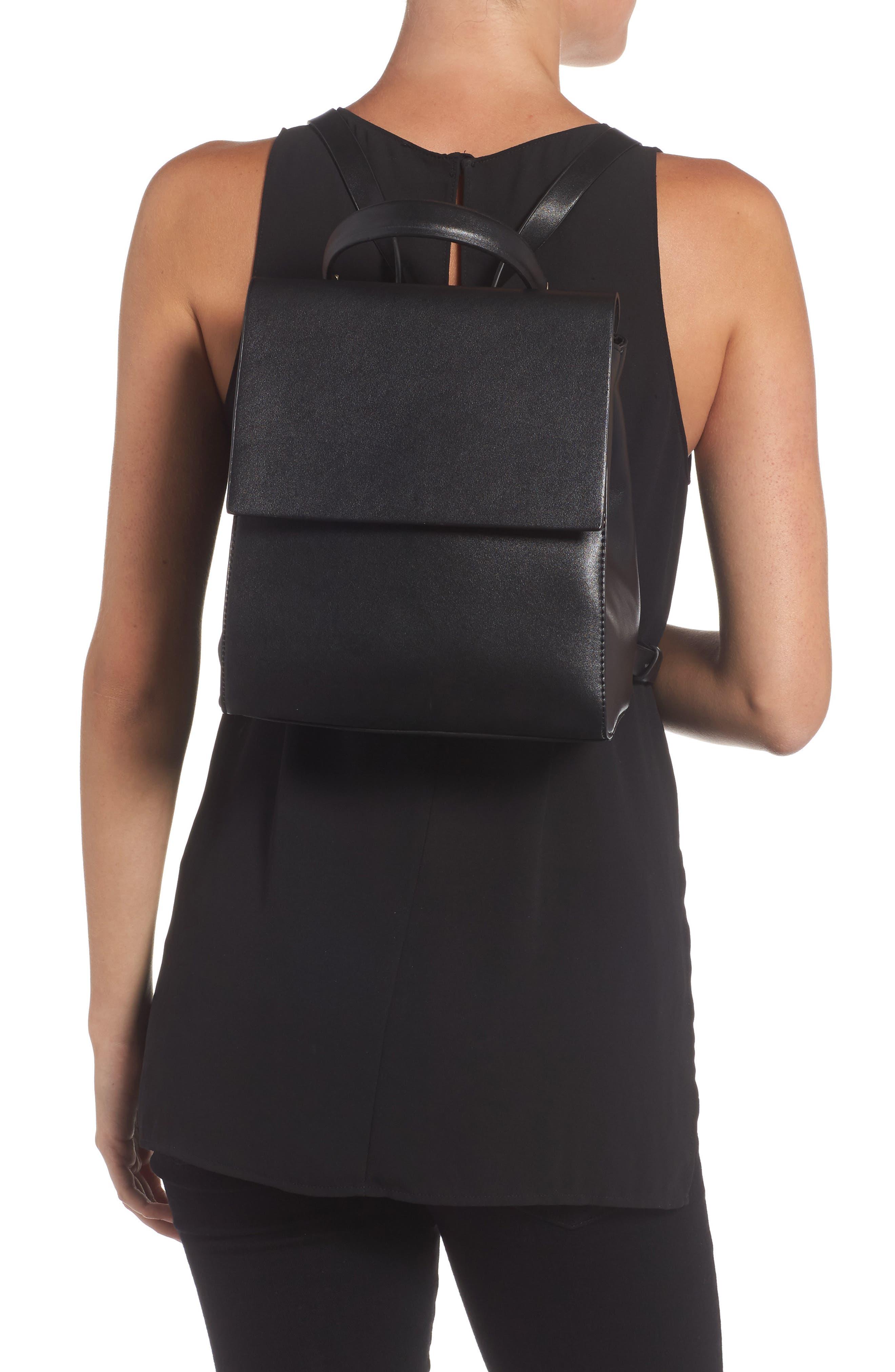 Mini Scandi Faux Leather Backpack,                             Alternate thumbnail 2, color,                             001