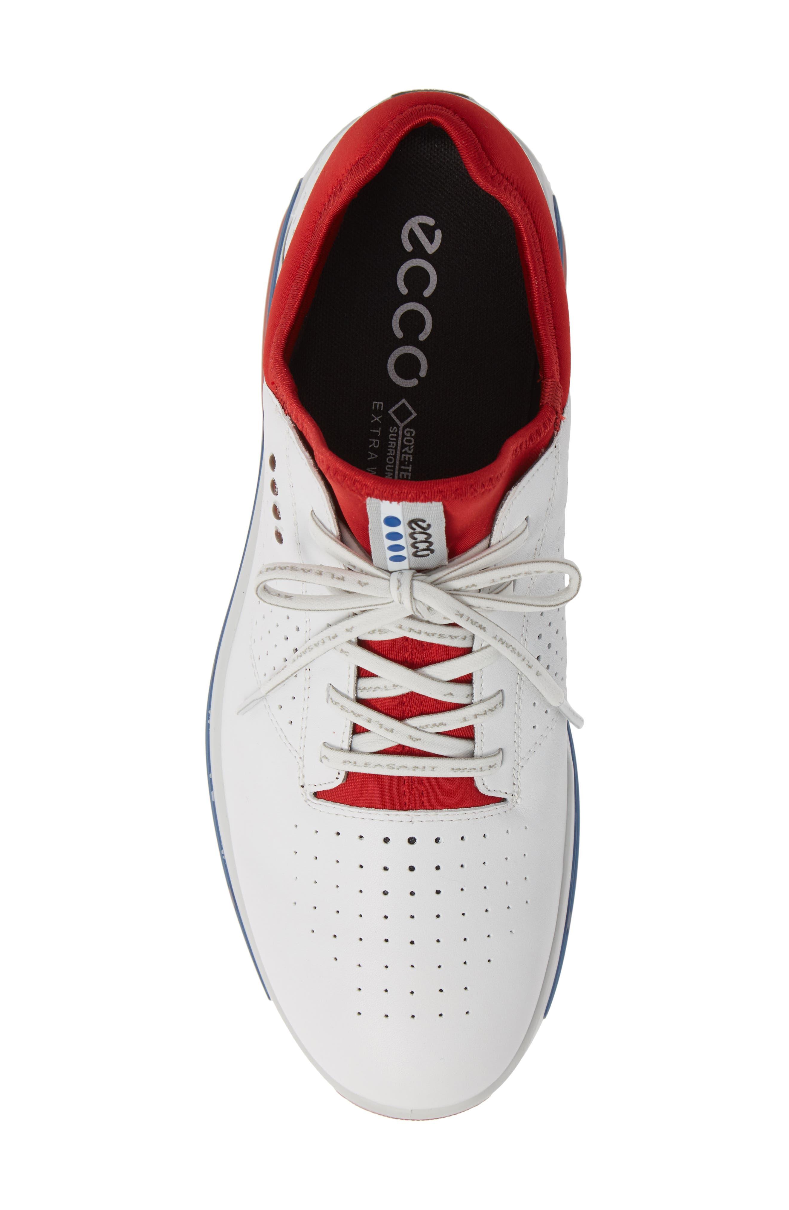 Cool 18 Gore-Tex Golf Shoe,                             Alternate thumbnail 5, color,                             WHITE/ TOMATO