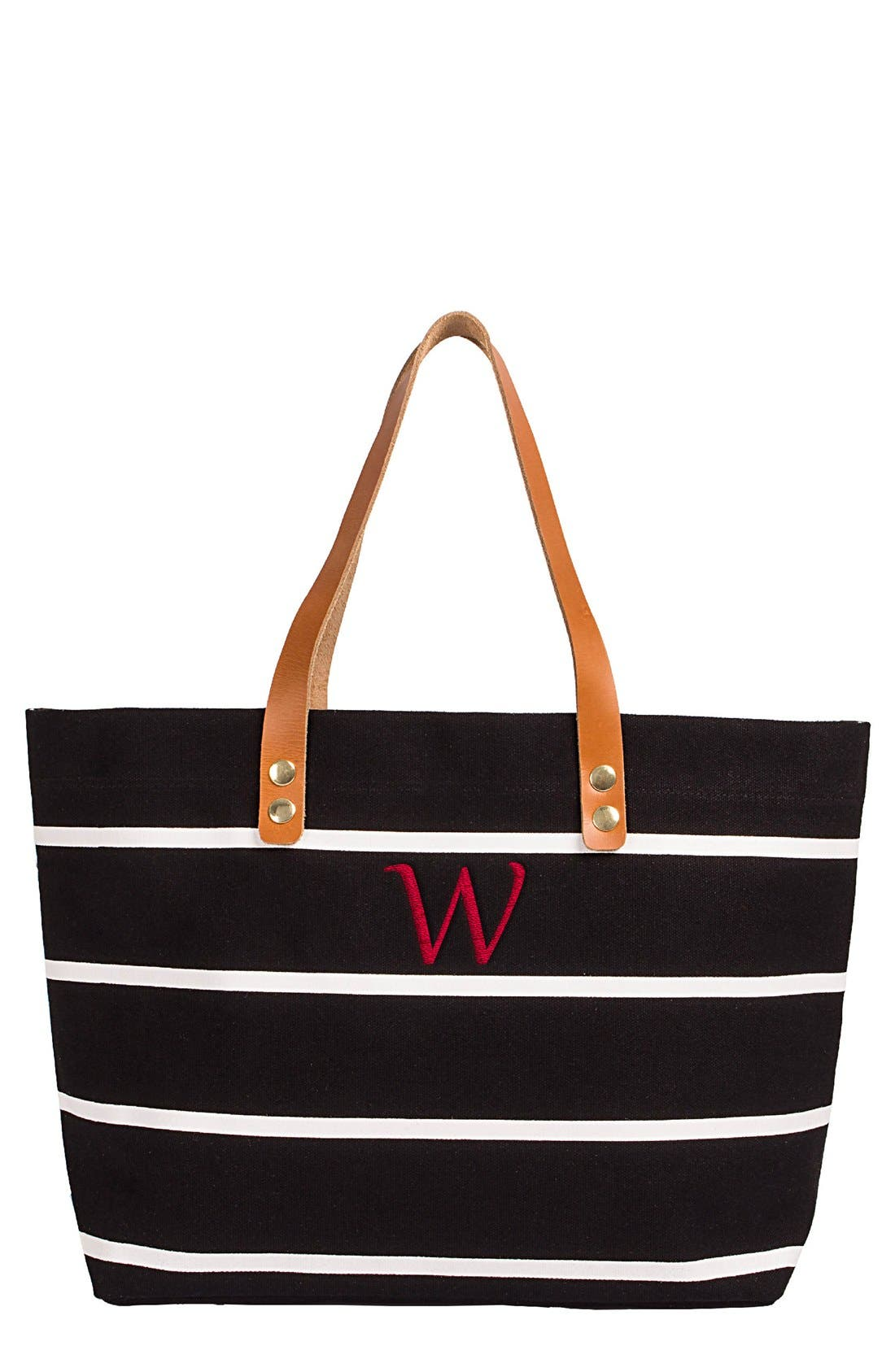 Monogram Stripe Tote,                             Main thumbnail 24, color,