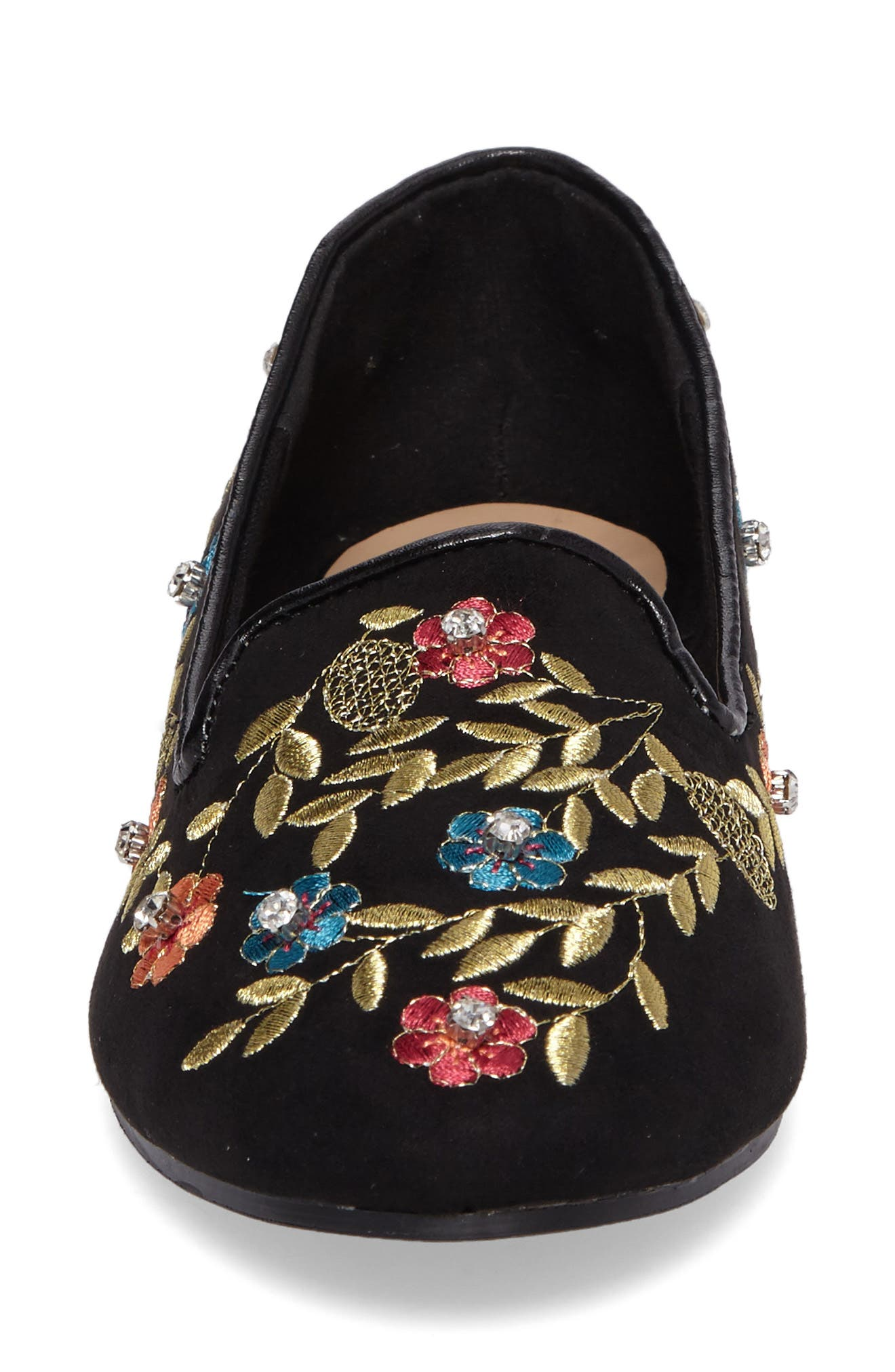 Sweetie Embroidered Loafer,                             Alternate thumbnail 4, color,                             001