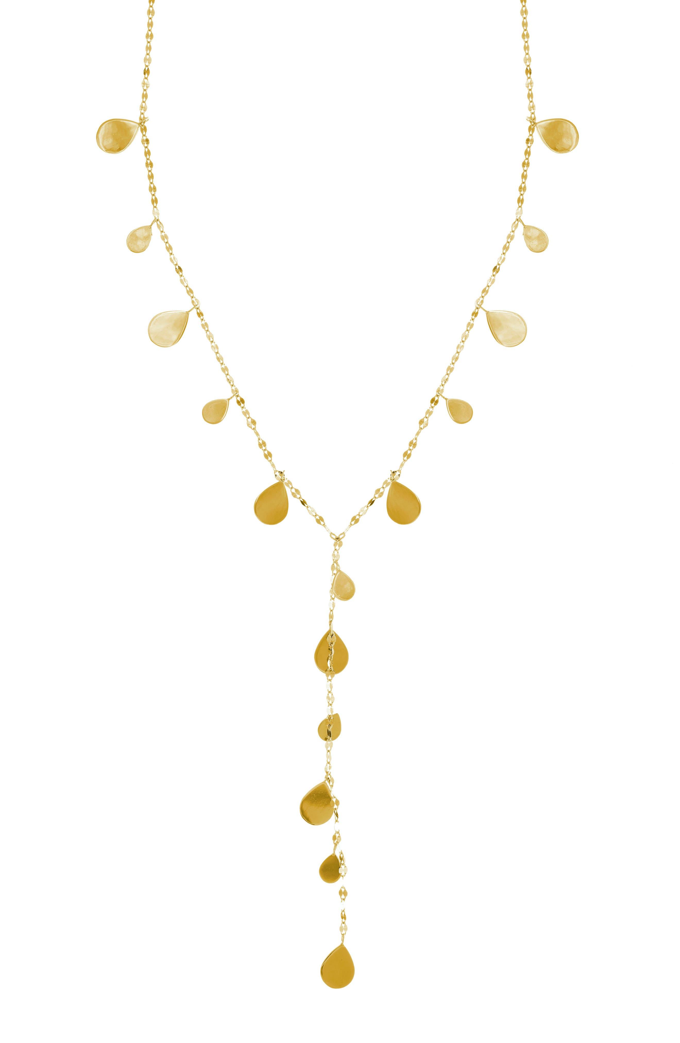 Teardrop Y-Necklace,                         Main,                         color,
