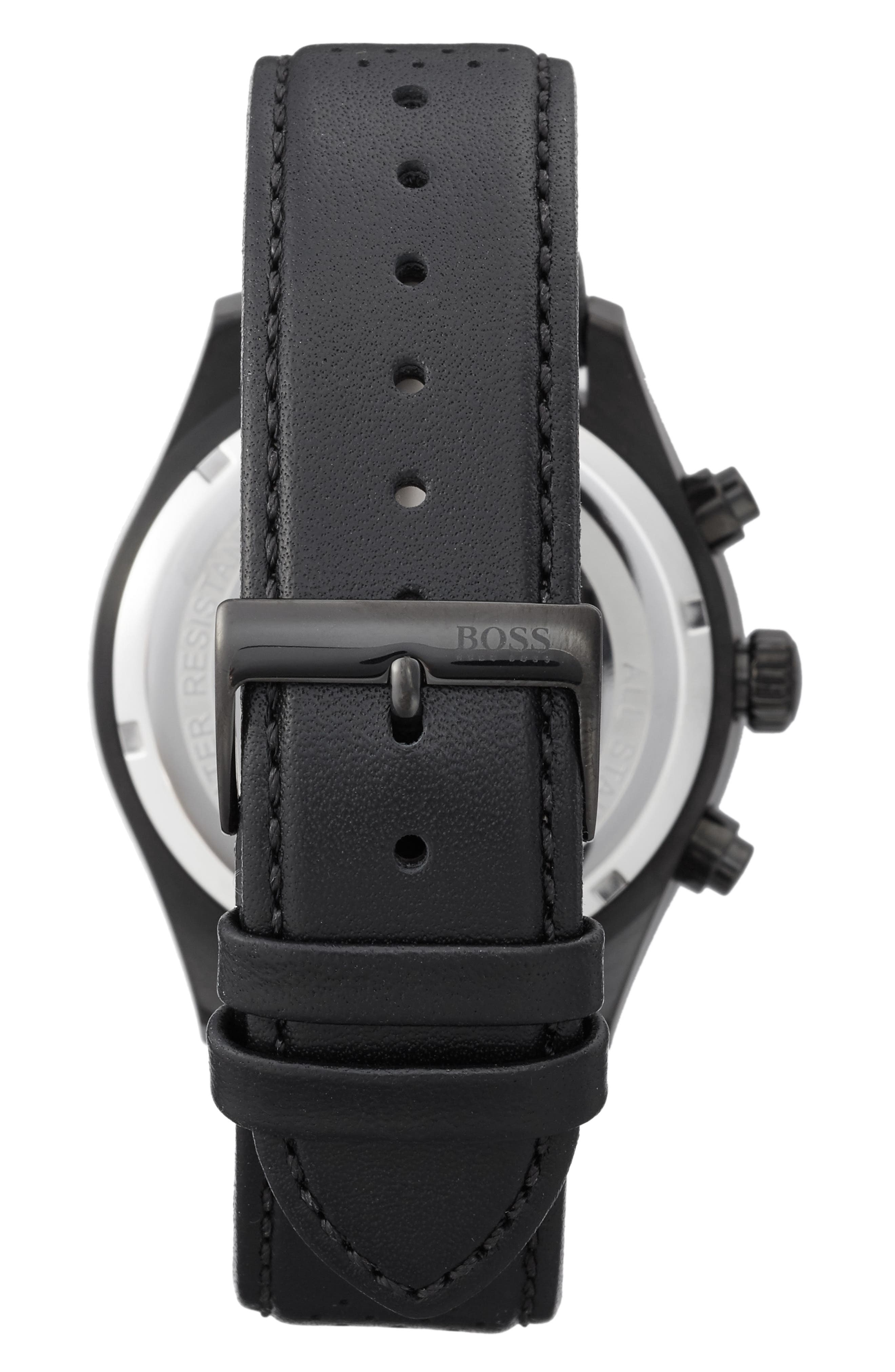Grand Prix Leather Strap Chronograph Watch, 44mm,                             Alternate thumbnail 2, color,                             200