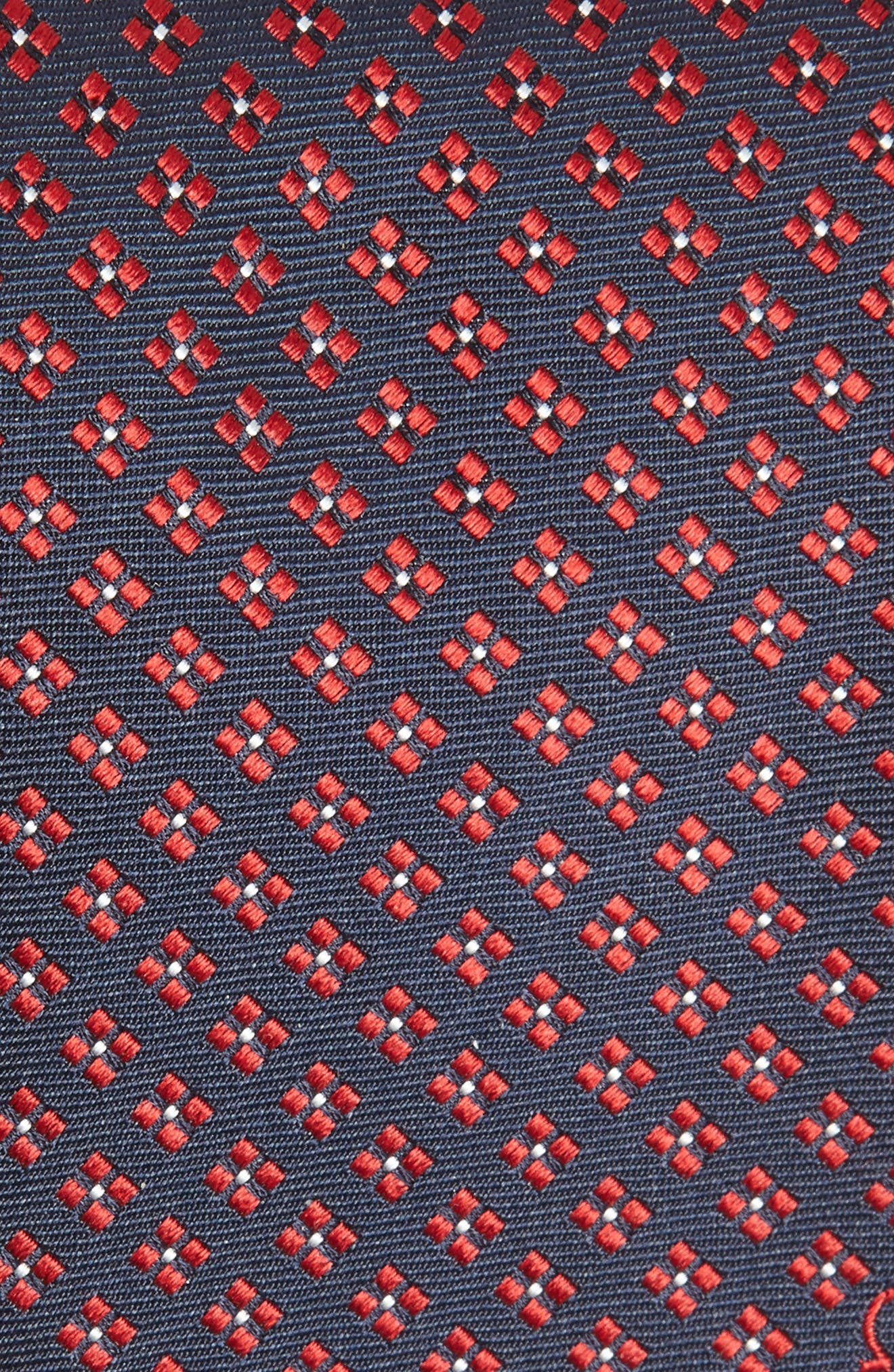Empol Geometric Silk Tie,                             Alternate thumbnail 2, color,                             NAVY/ RED