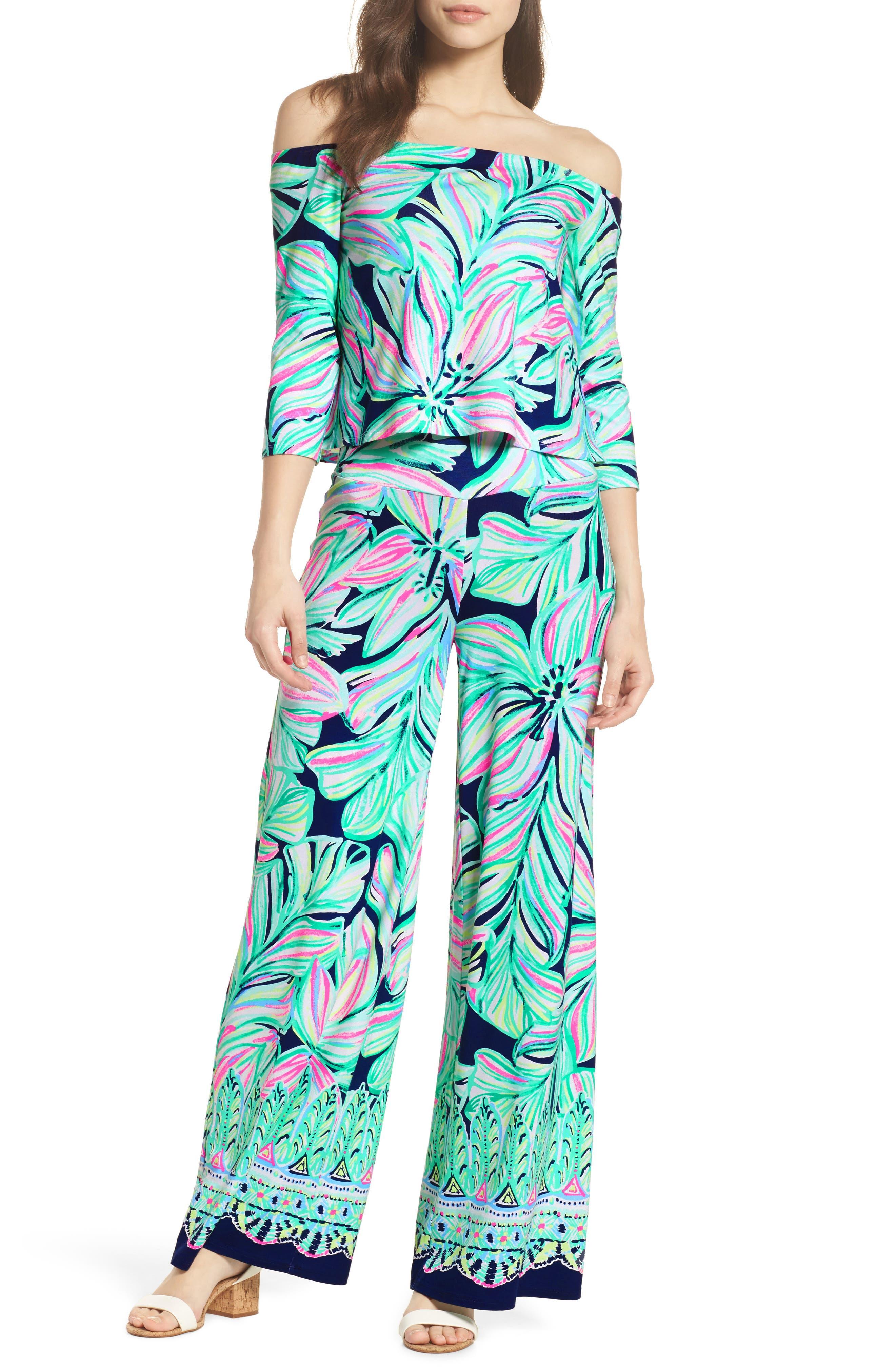 Weslee Floral Top & Pants,                         Main,                         color,