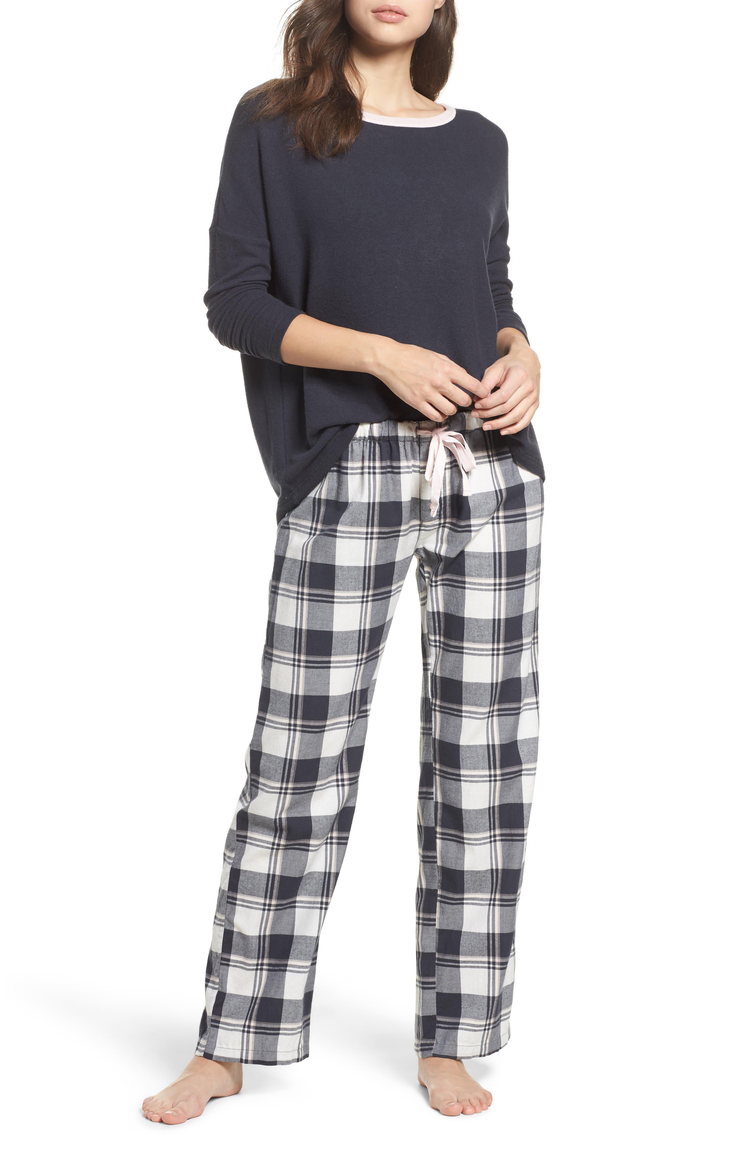 Plaid Pajama Pants,                             Alternate thumbnail 7, color,                             900