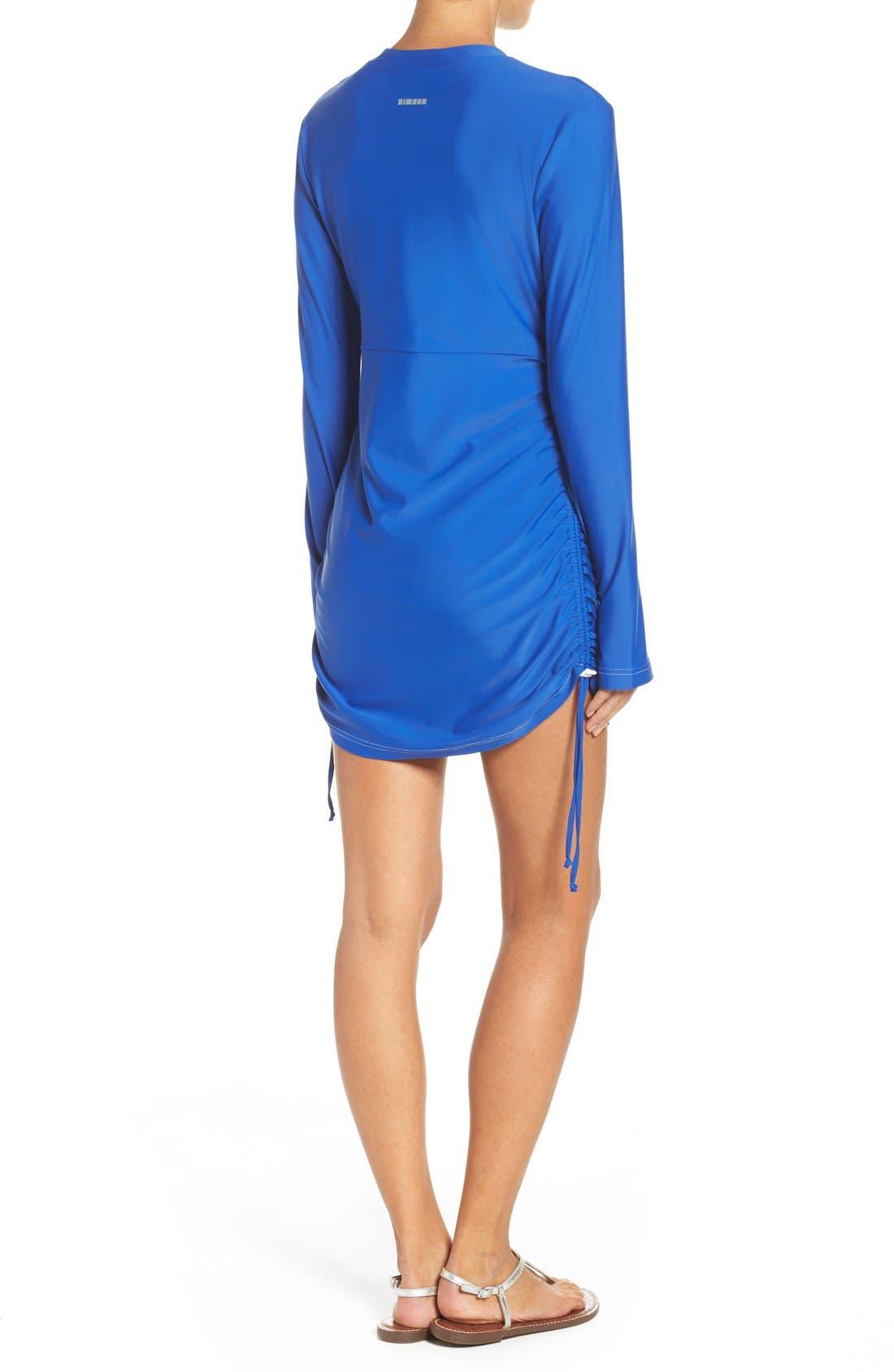 'Sonja' Long Sleeve Half Zip Convertible Swimdress,                             Alternate thumbnail 17, color,