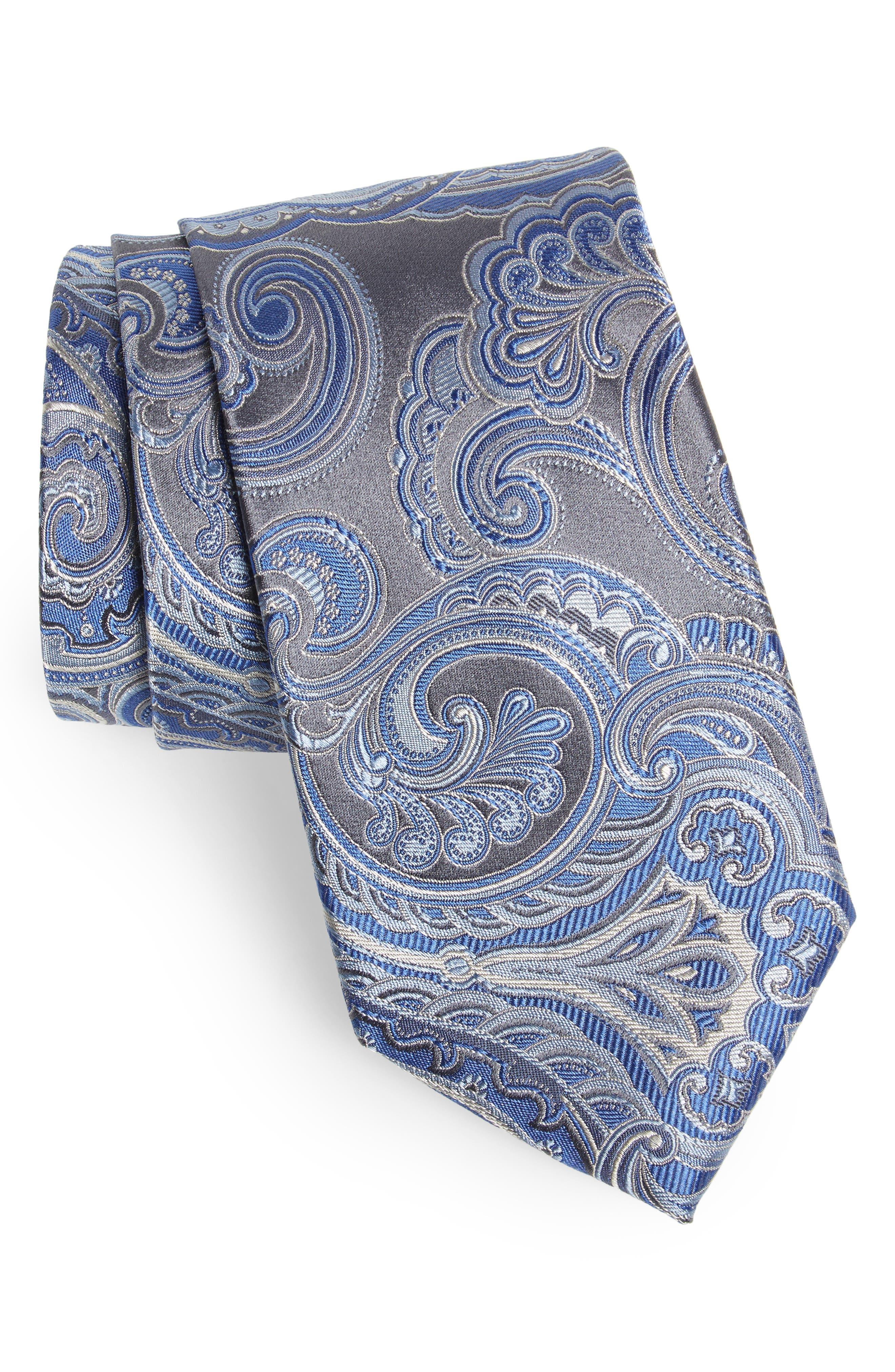 Paisley Silk Tie,                         Main,                         color, 020