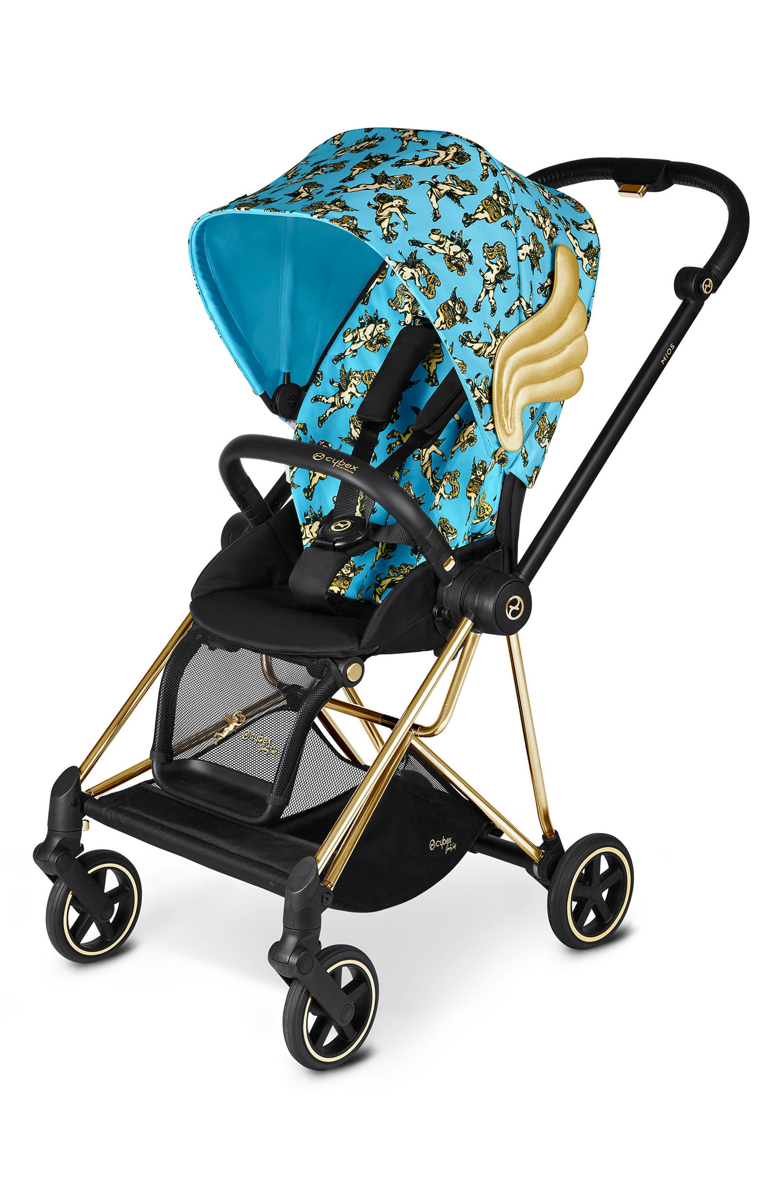 x Jeremy Scott Cherubs Mios Compact Stroller,                         Main,                         color, BLUE
