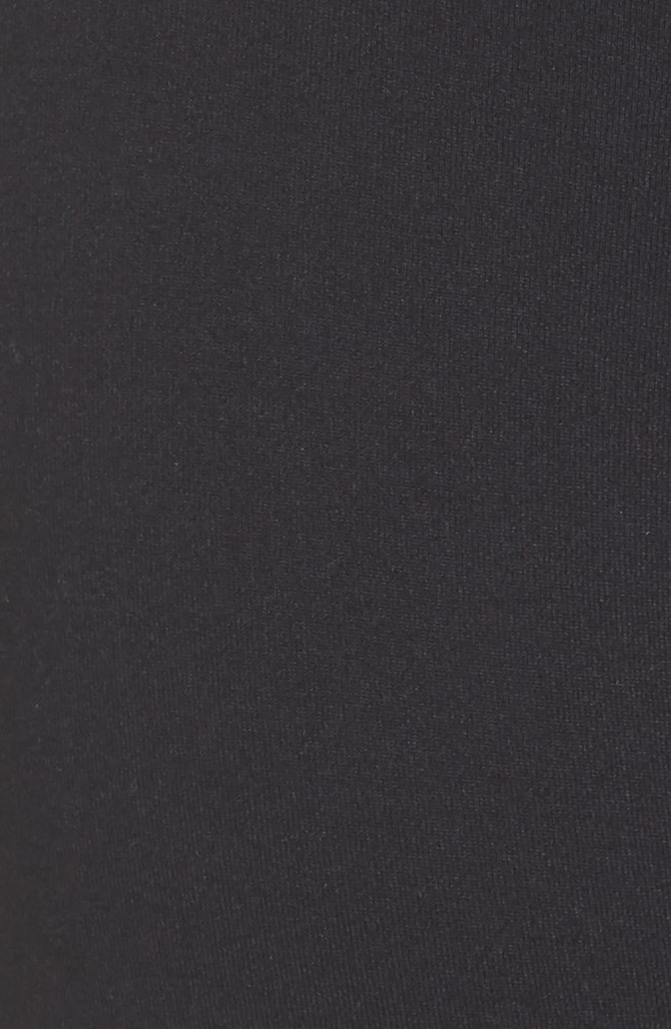 ZELLA,                             Meditate High Waist Crop Leggings,                             Alternate thumbnail 6, color,                             BLACK