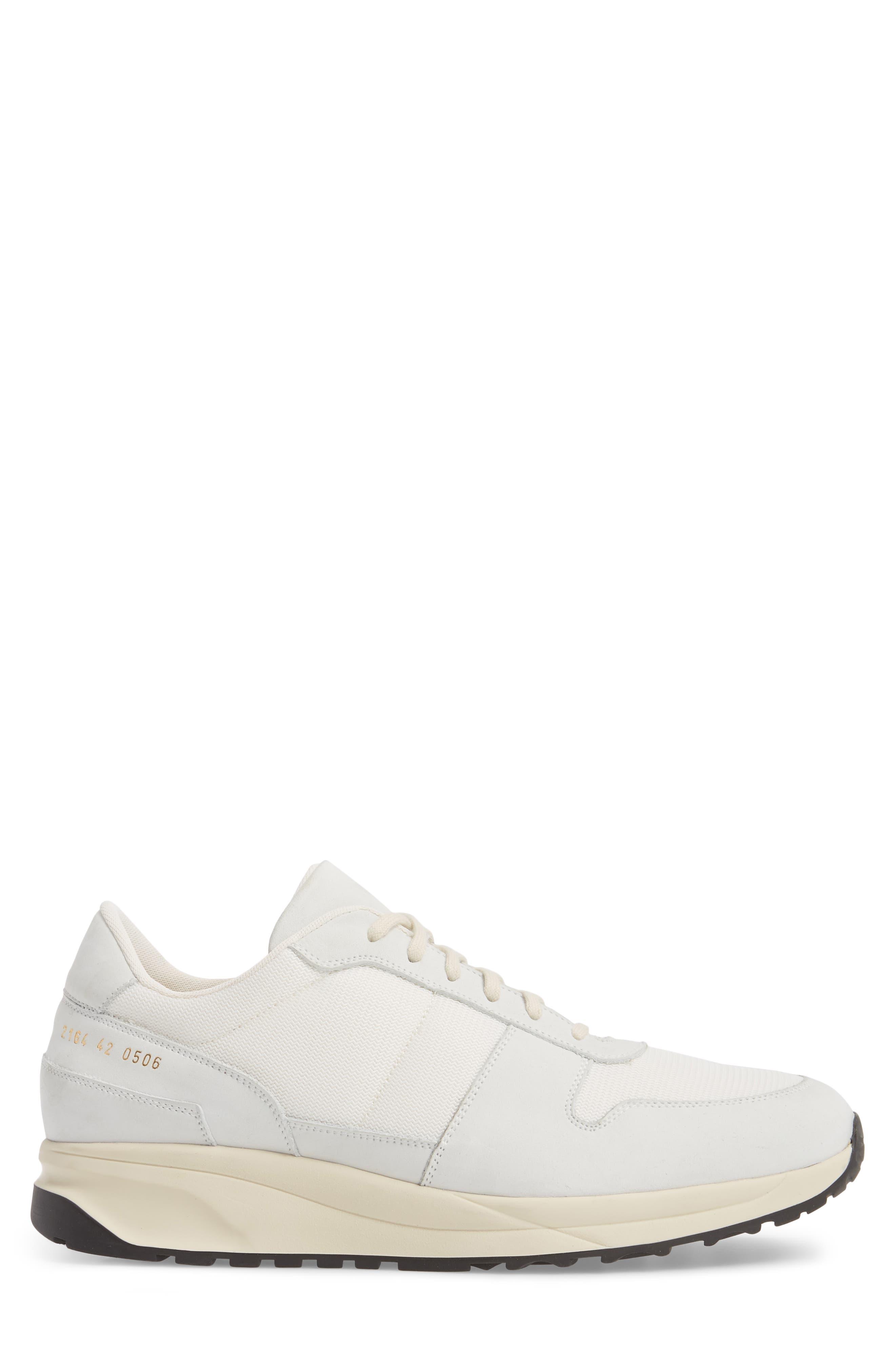 Track Vintage Sneaker,                             Alternate thumbnail 3, color,                             WHITE