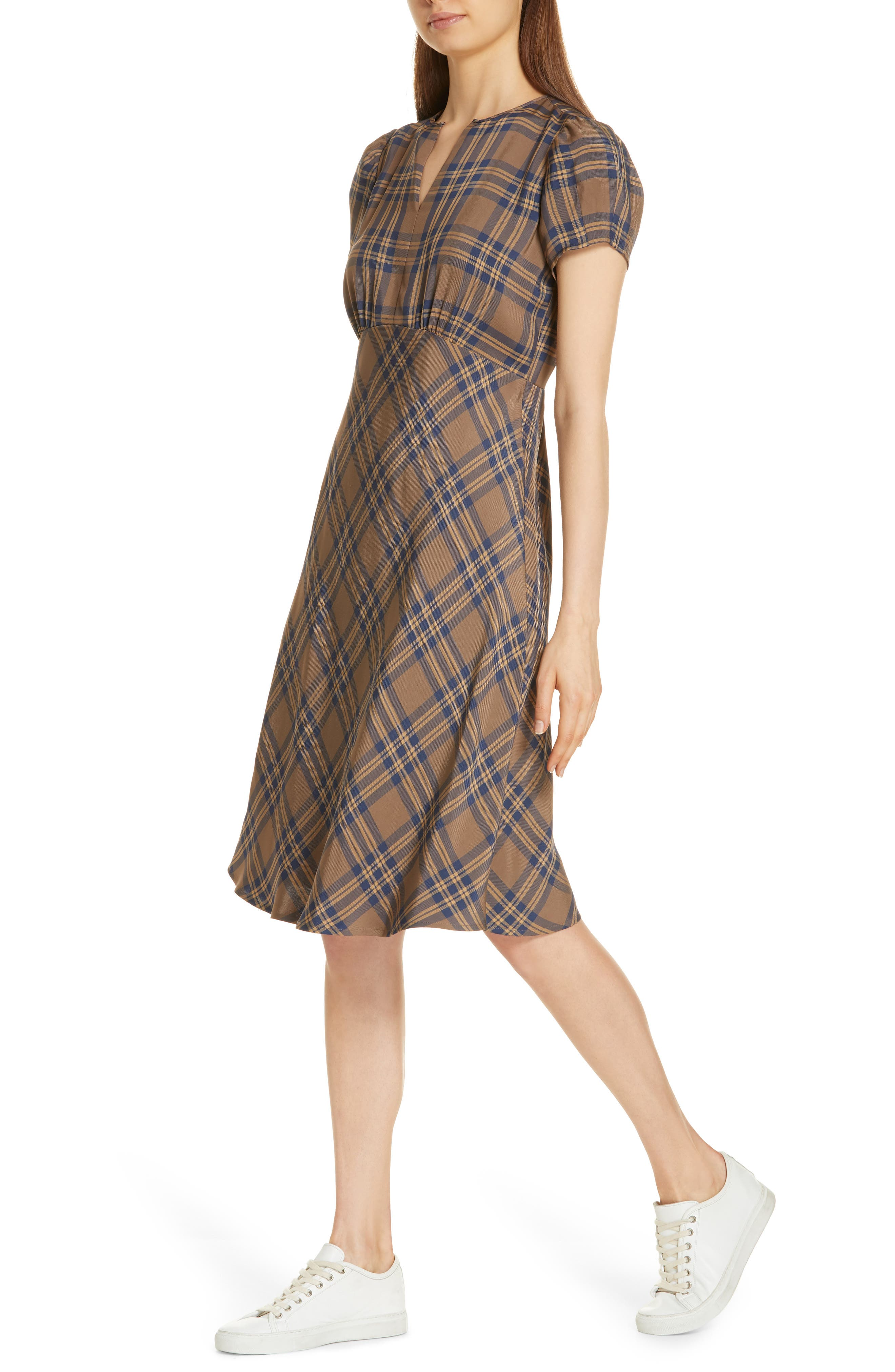 Check Dress,                             Alternate thumbnail 4, color,                             210