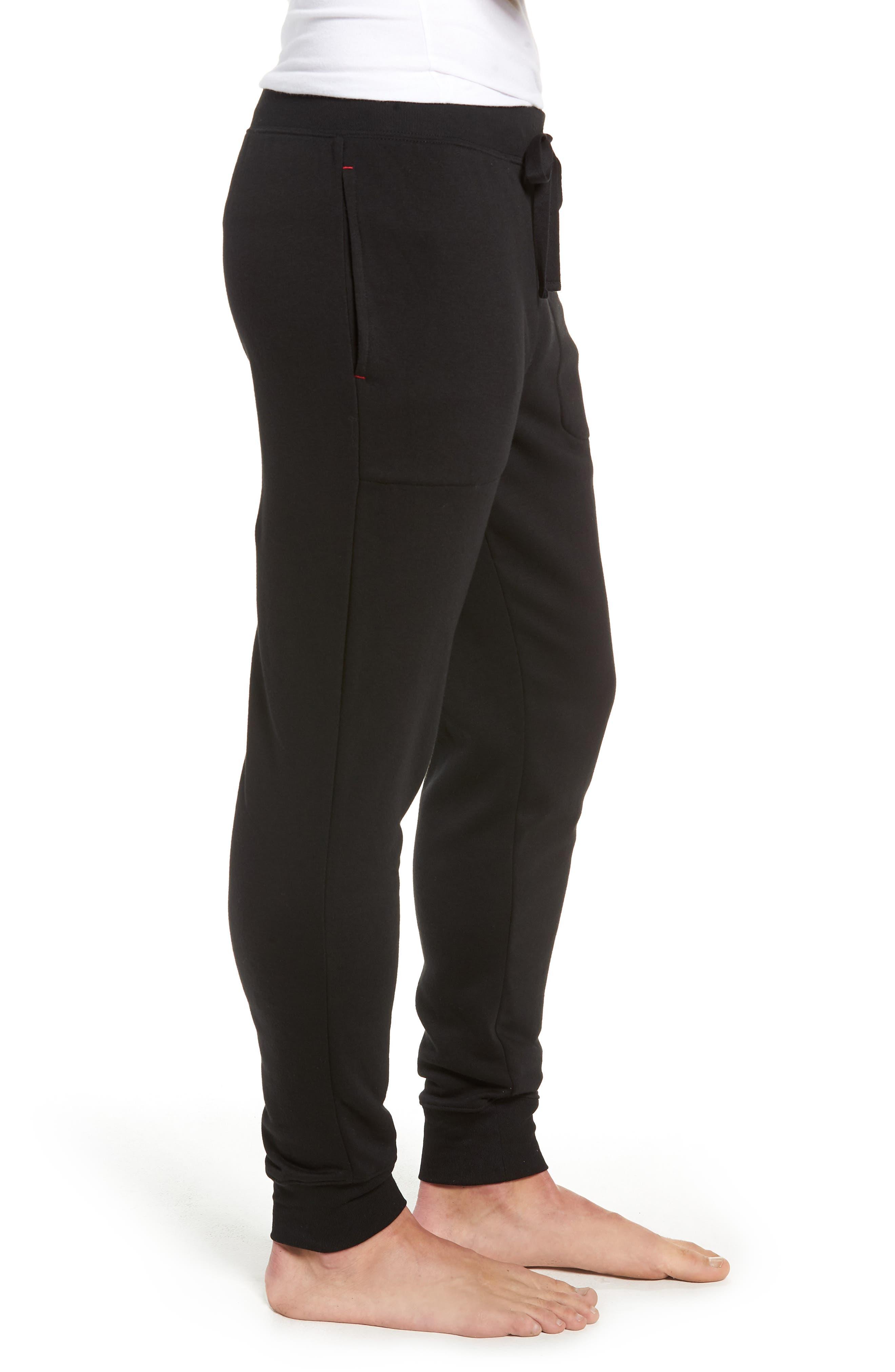 POLO RALPH LAUREN,                             Brushed Jersey Cotton Blend Jogger Pants,                             Alternate thumbnail 3, color,                             POLO BLACK