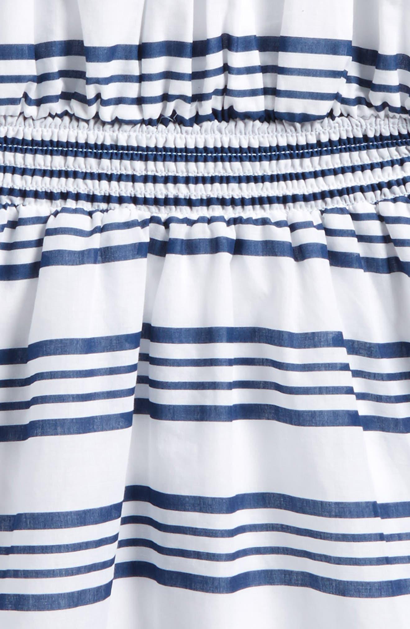 Off the Shoulder Stripe Dress,                             Alternate thumbnail 3, color,