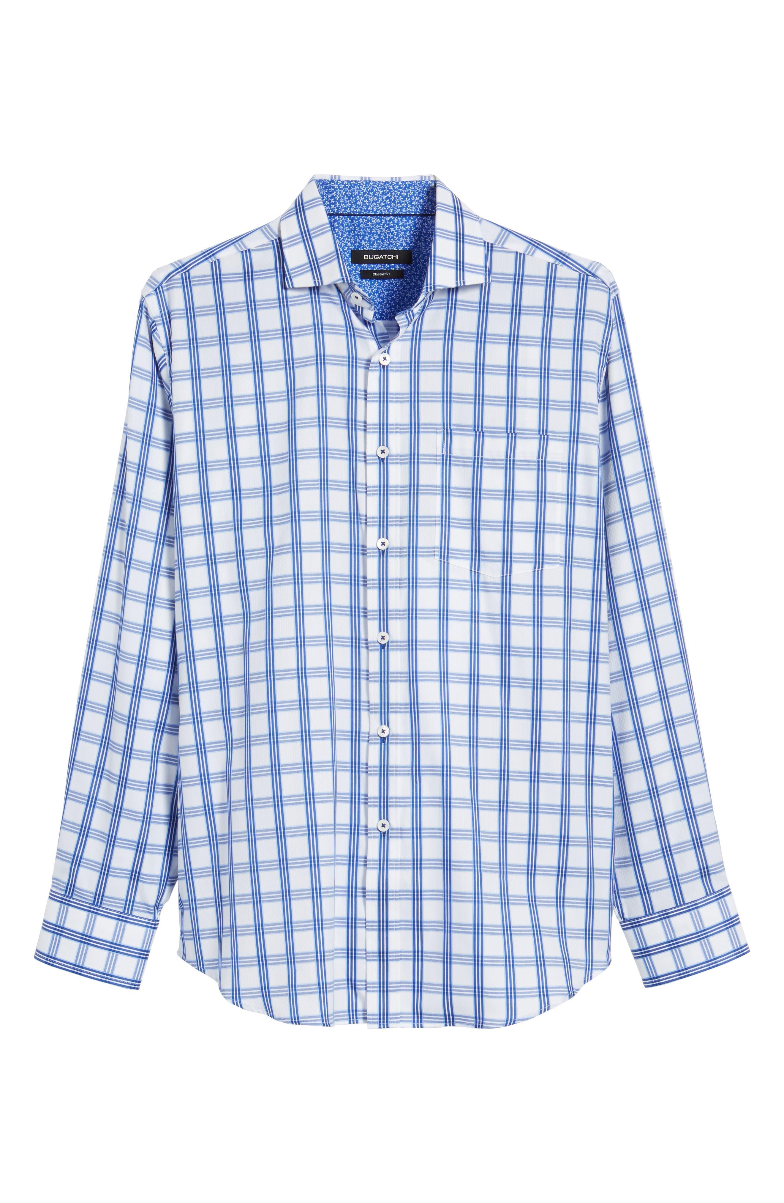 Classic Fit Sport Shirt,                             Alternate thumbnail 6, color,                             CLASSIC BLUE