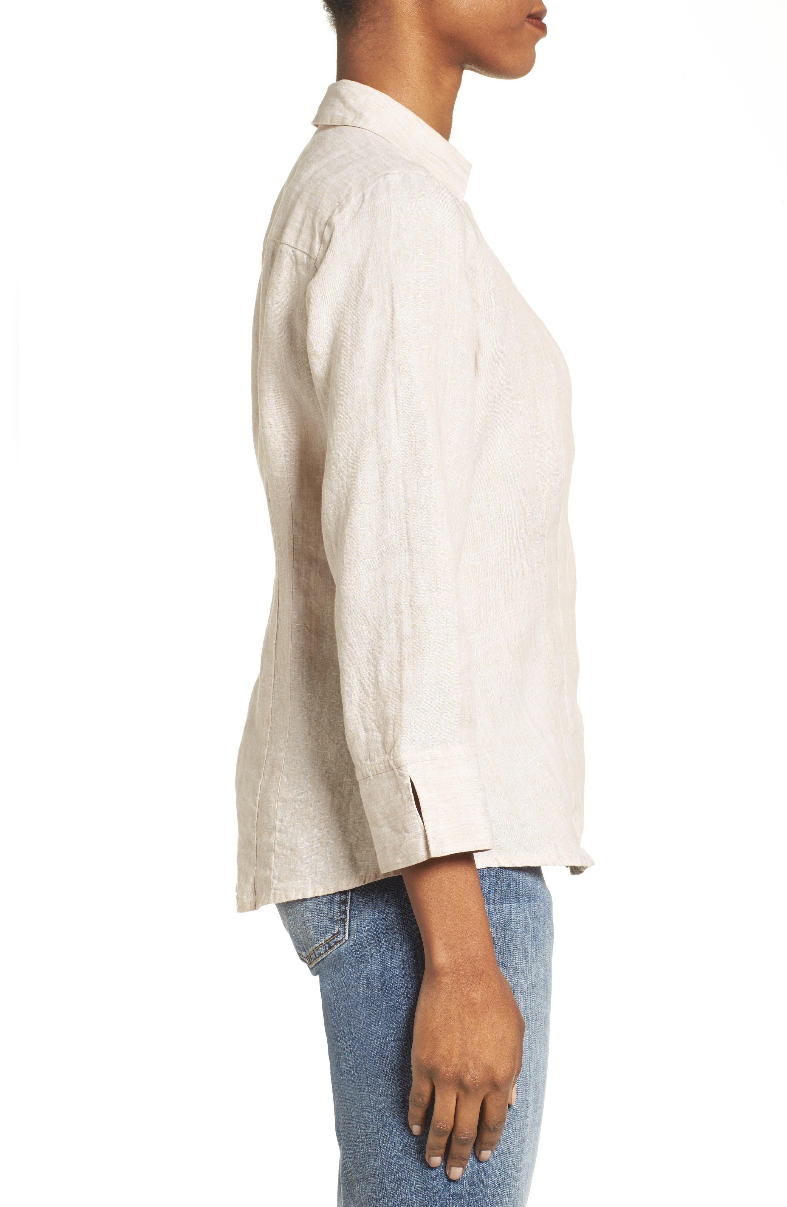 Linen Chambray Shirt,                             Alternate thumbnail 18, color,